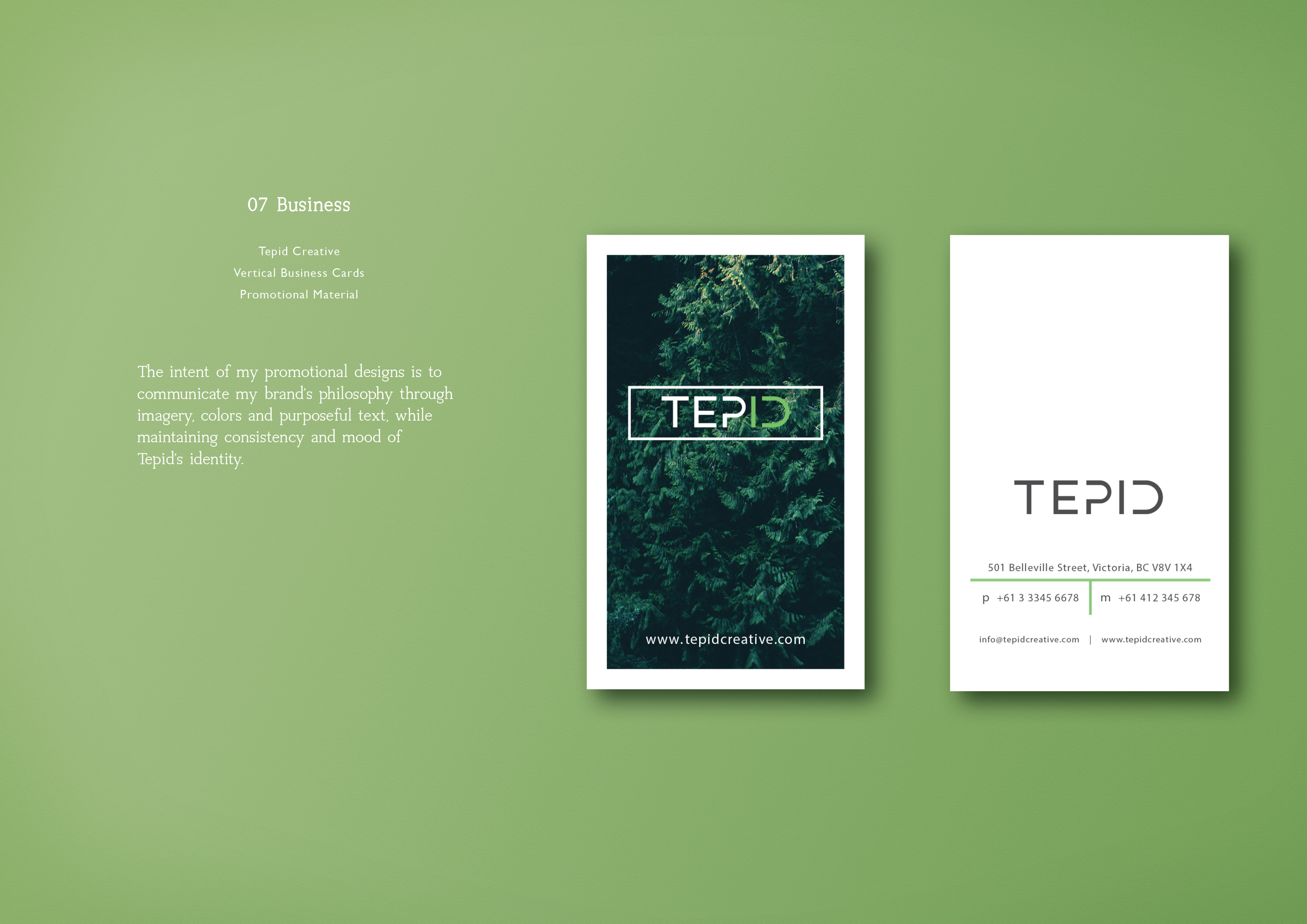 Tepid Sustainable Design & Branding Identity on Behance