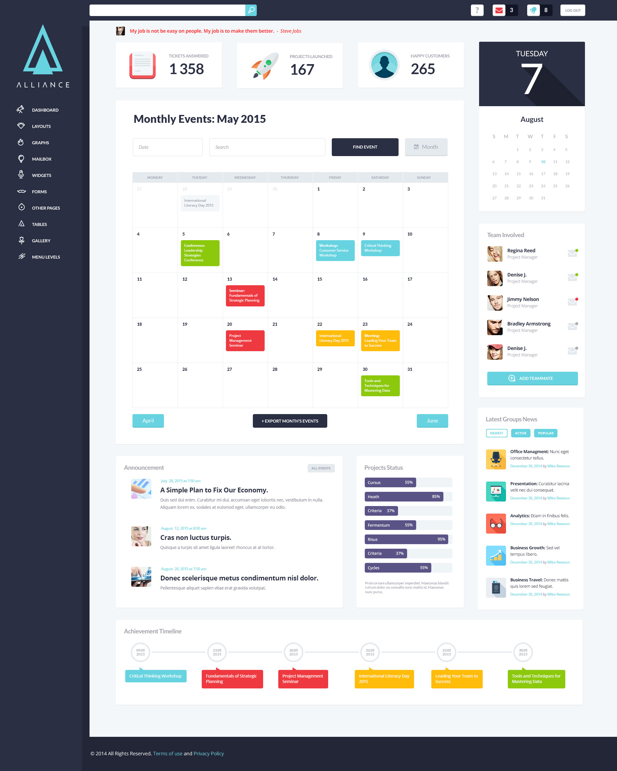 Alliance | Intranet & Extranet WordPress Theme on Behance