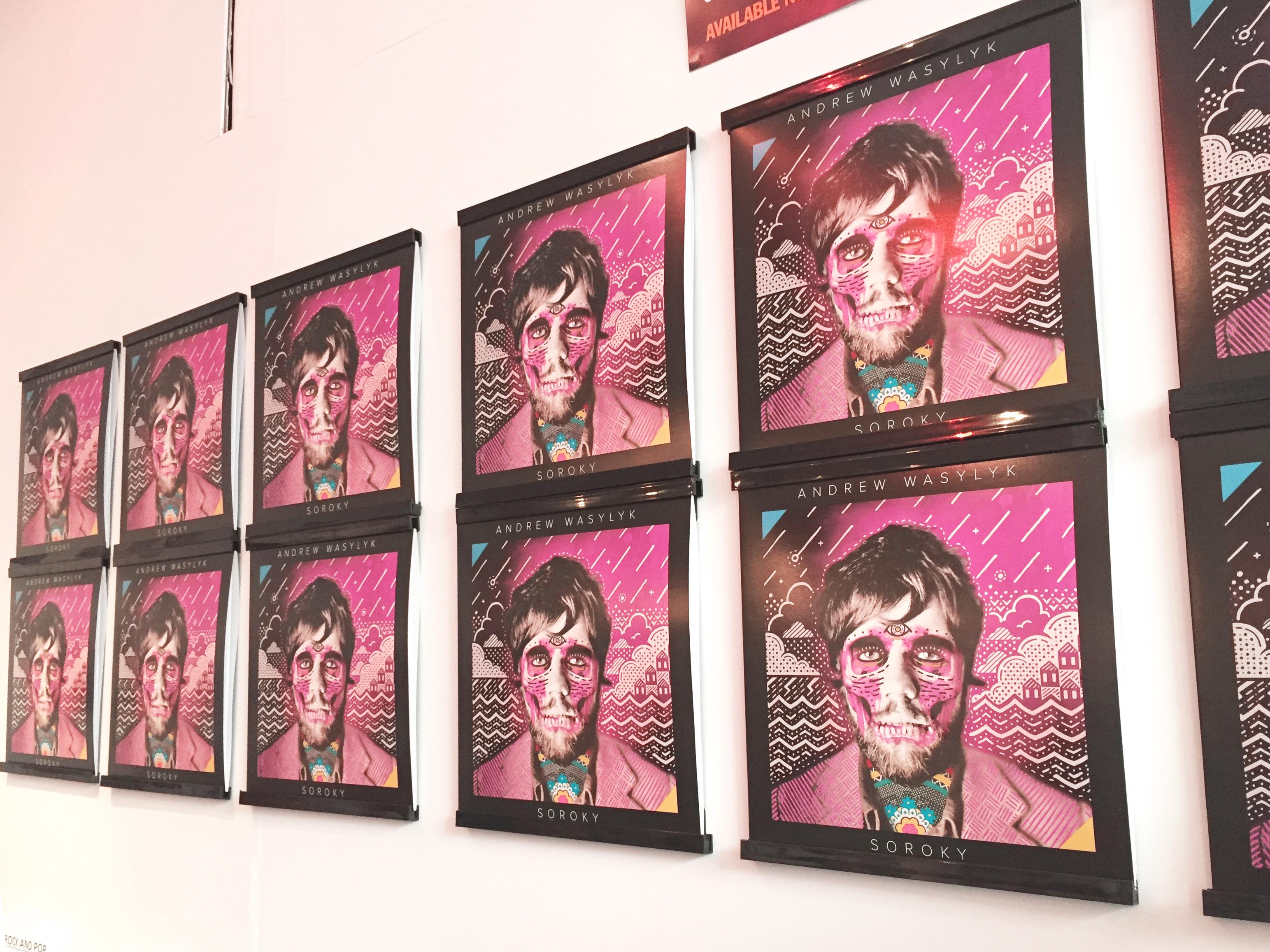 Soroky Albums on display in-store