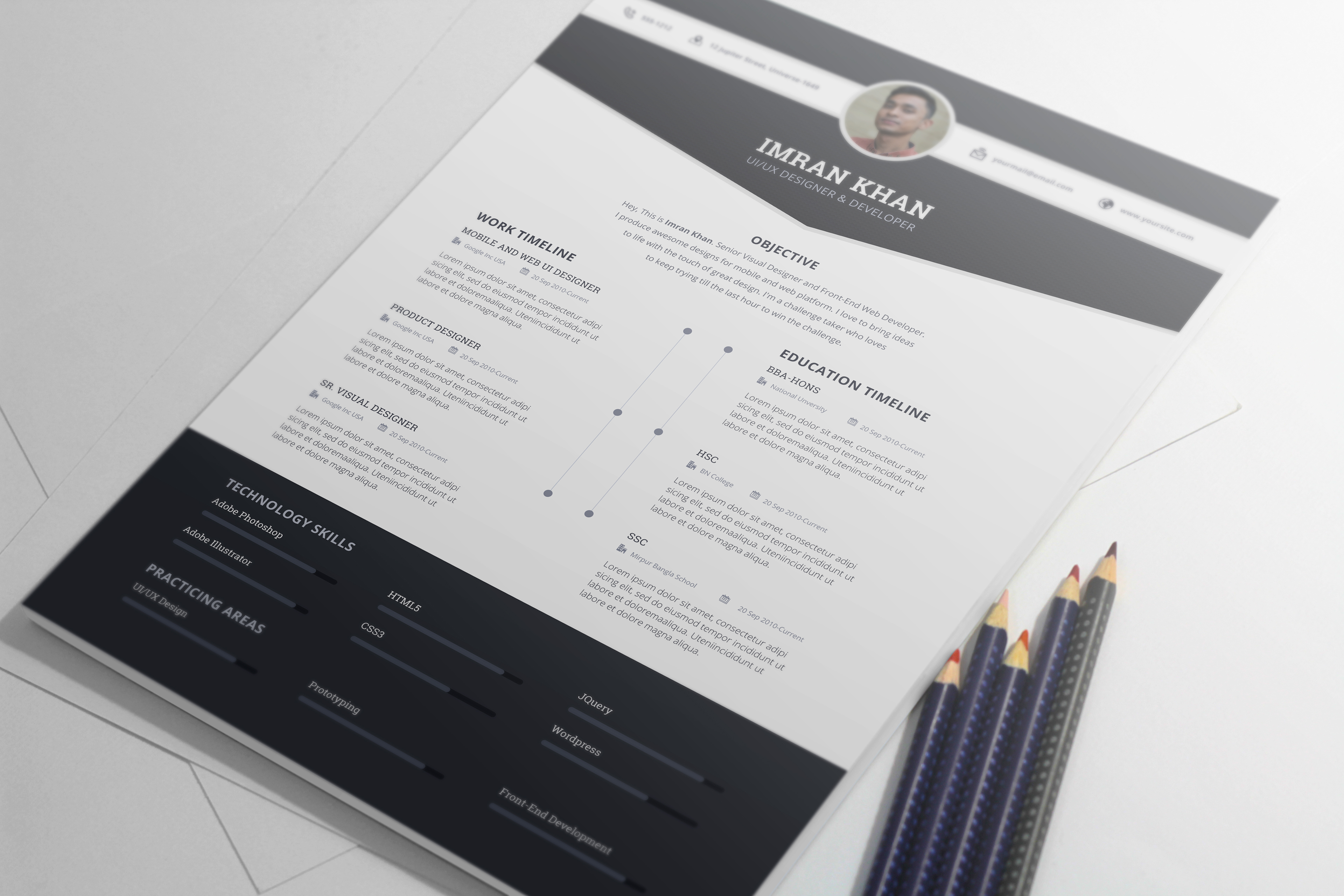 Resume Behance Resume Template most appreciated projects on behance free resume template psd 4 colors