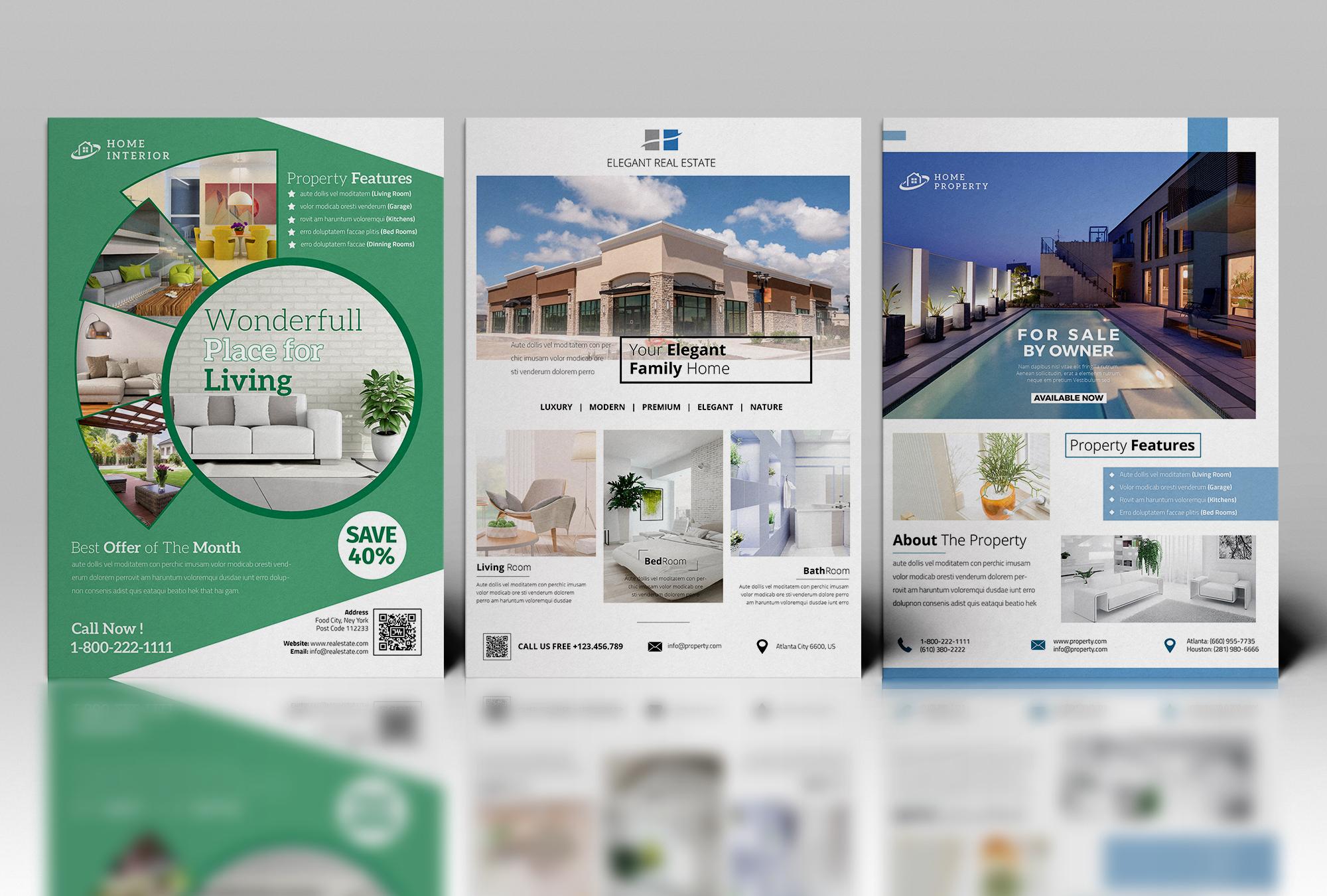 real estate flyer on behance