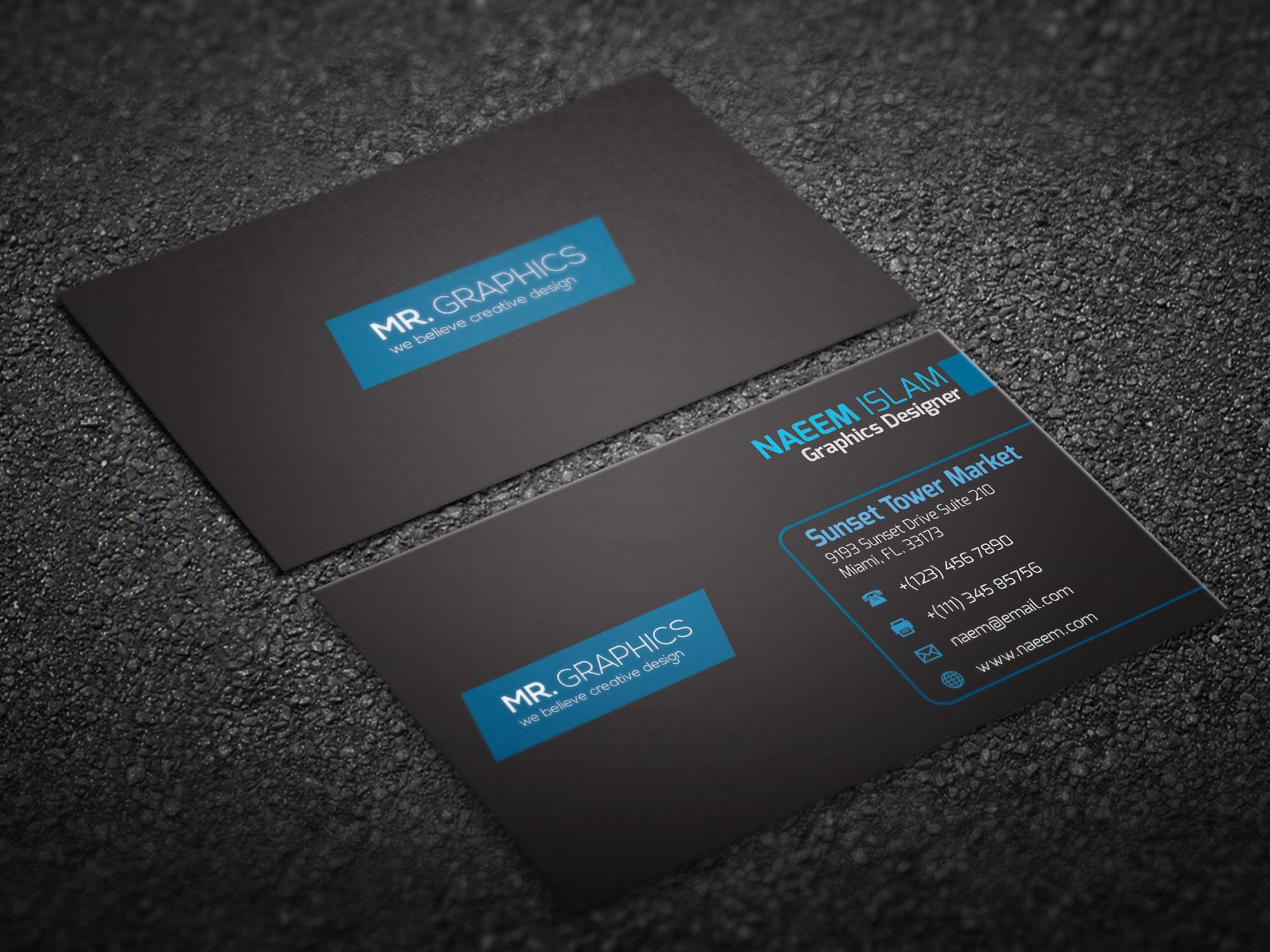 latest business card on behance