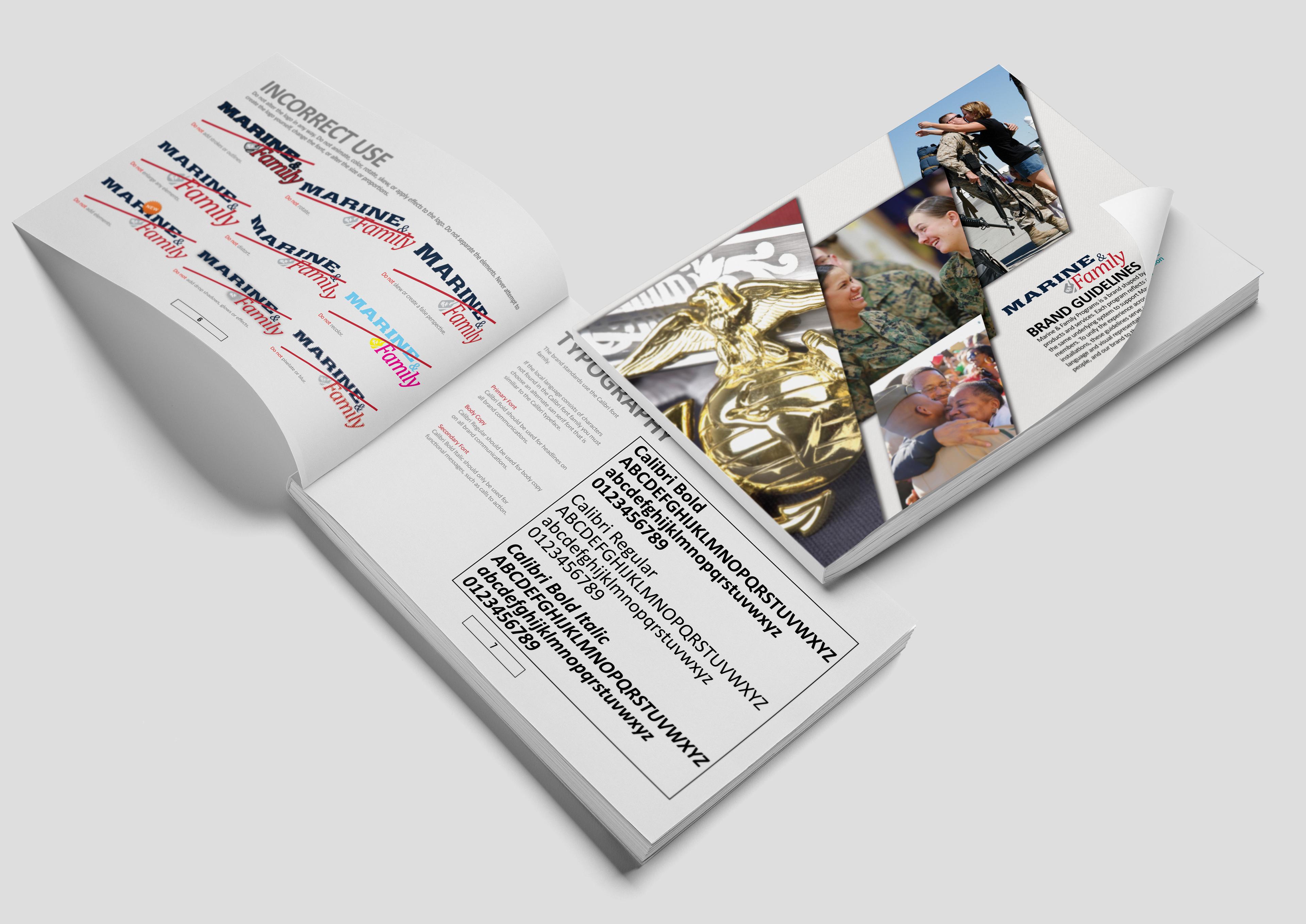 Greg Mobley's Portfolio - Marine & Family Brand Guidelines