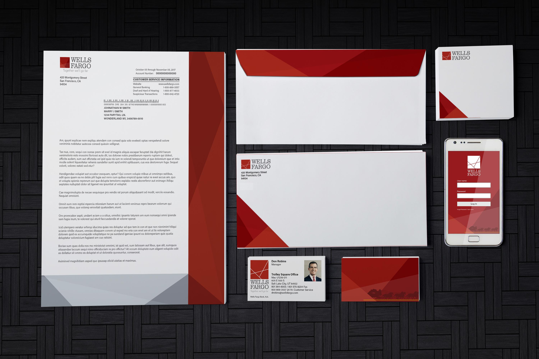 Wells Fargo Corporate Identity on Behance