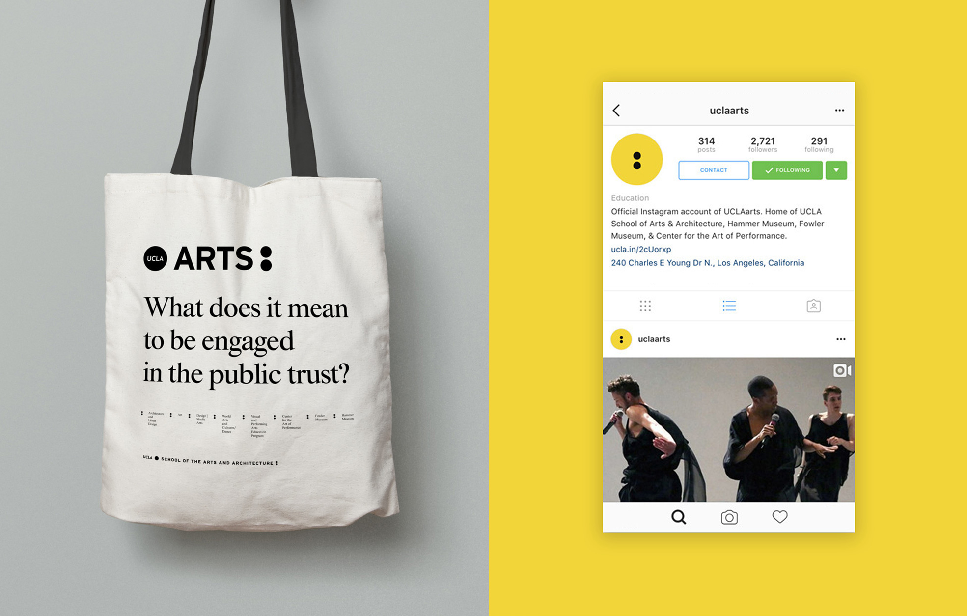 UCLA School Of The Arts Brand Identity And Guidelines On Behance