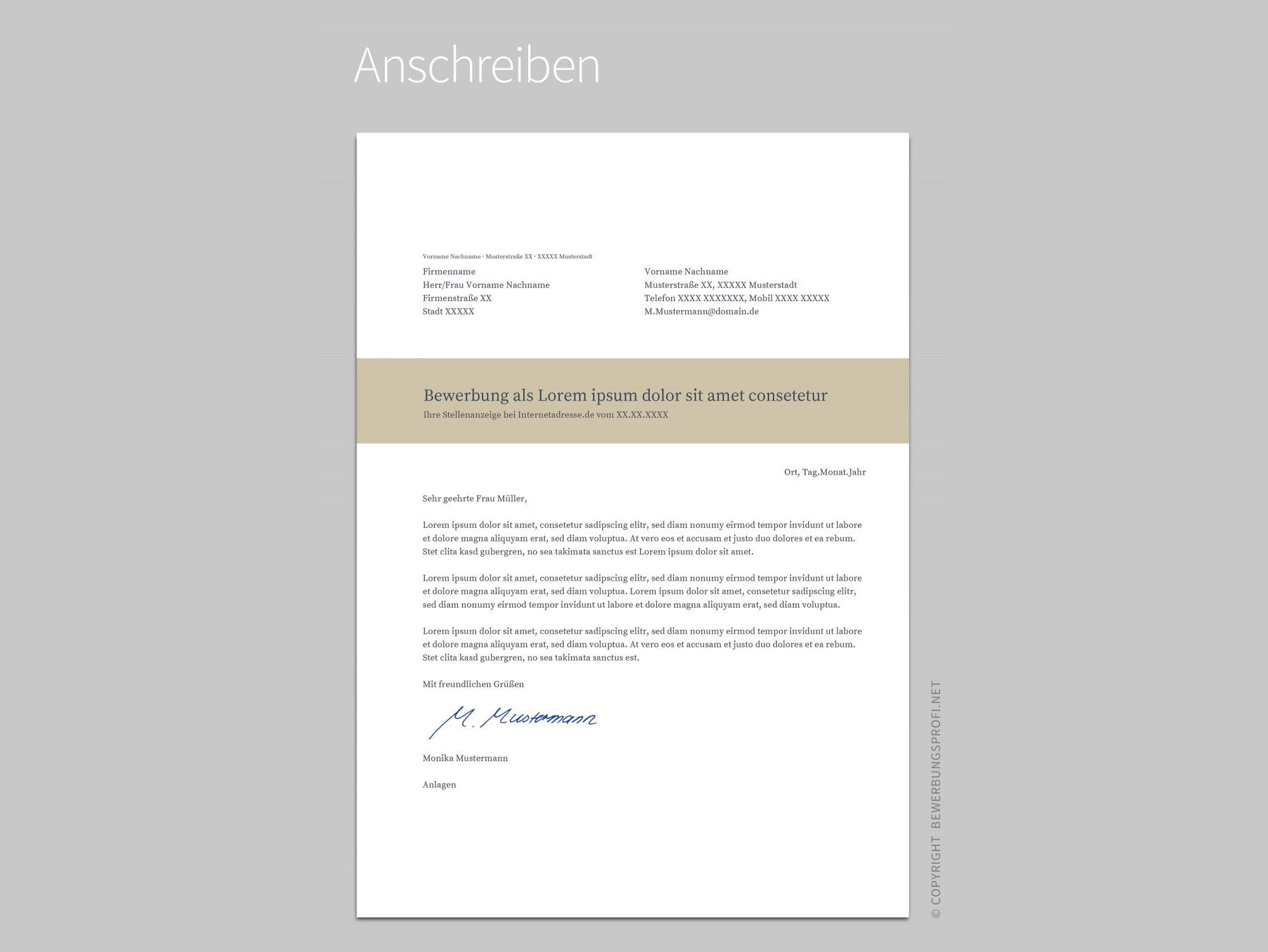 Free Resume Template | Bewerbung Muster on Behance