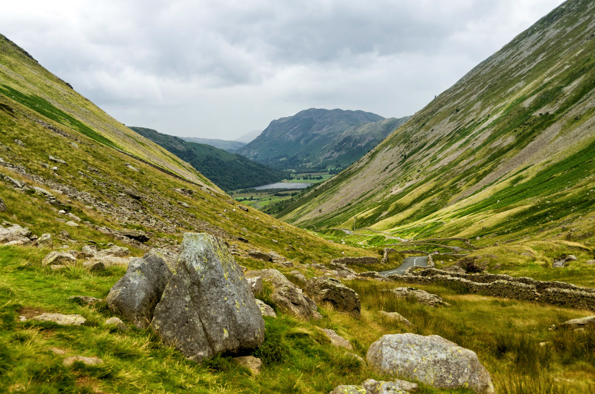 Down from Red Screes, Lake District, England