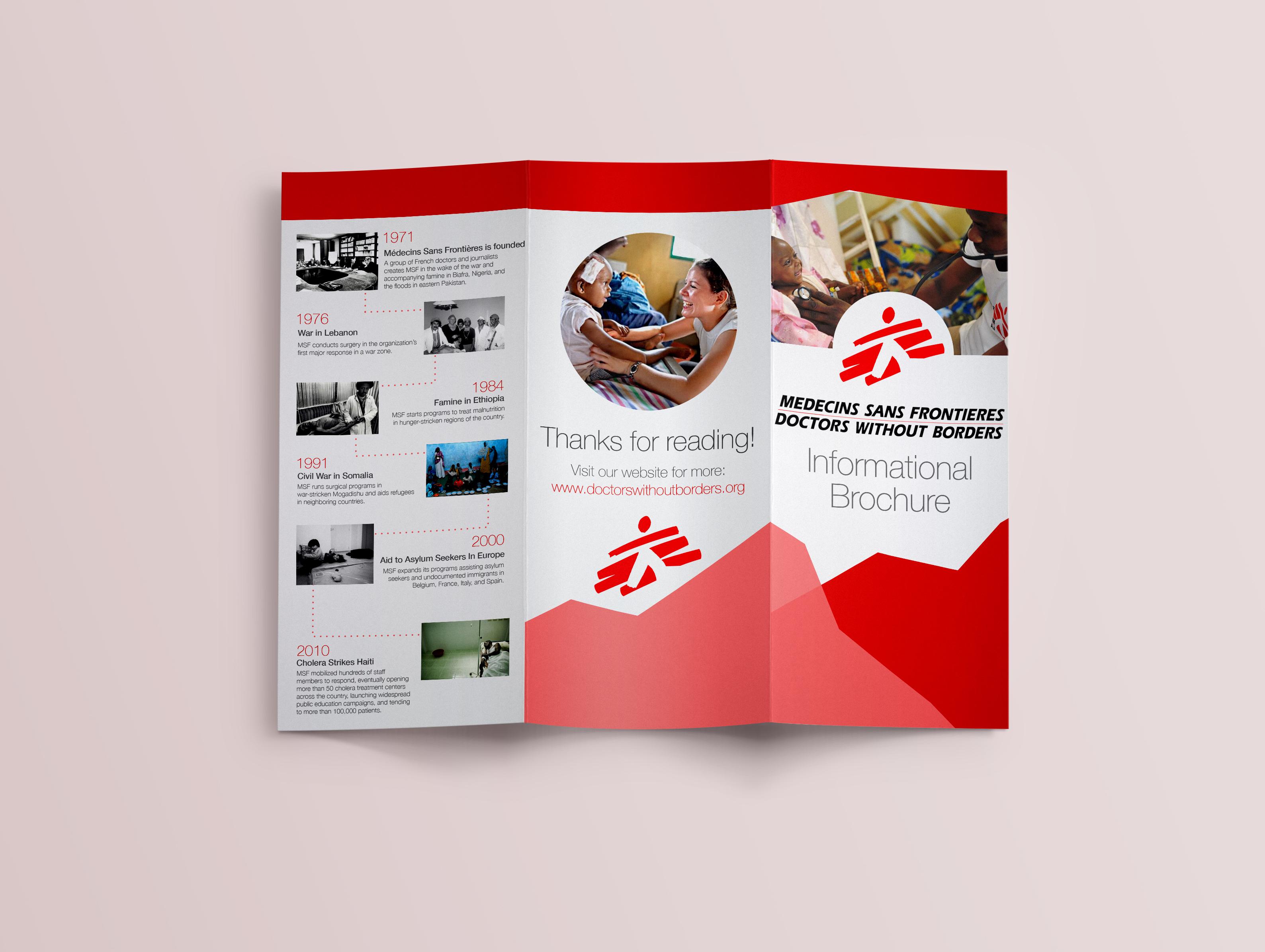 doctors without borders brochure on behance