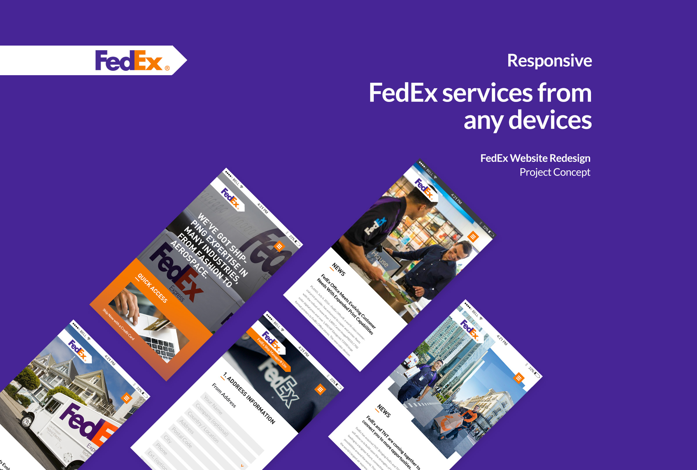 Fedex web concept on behance pronofoot35fo Image collections
