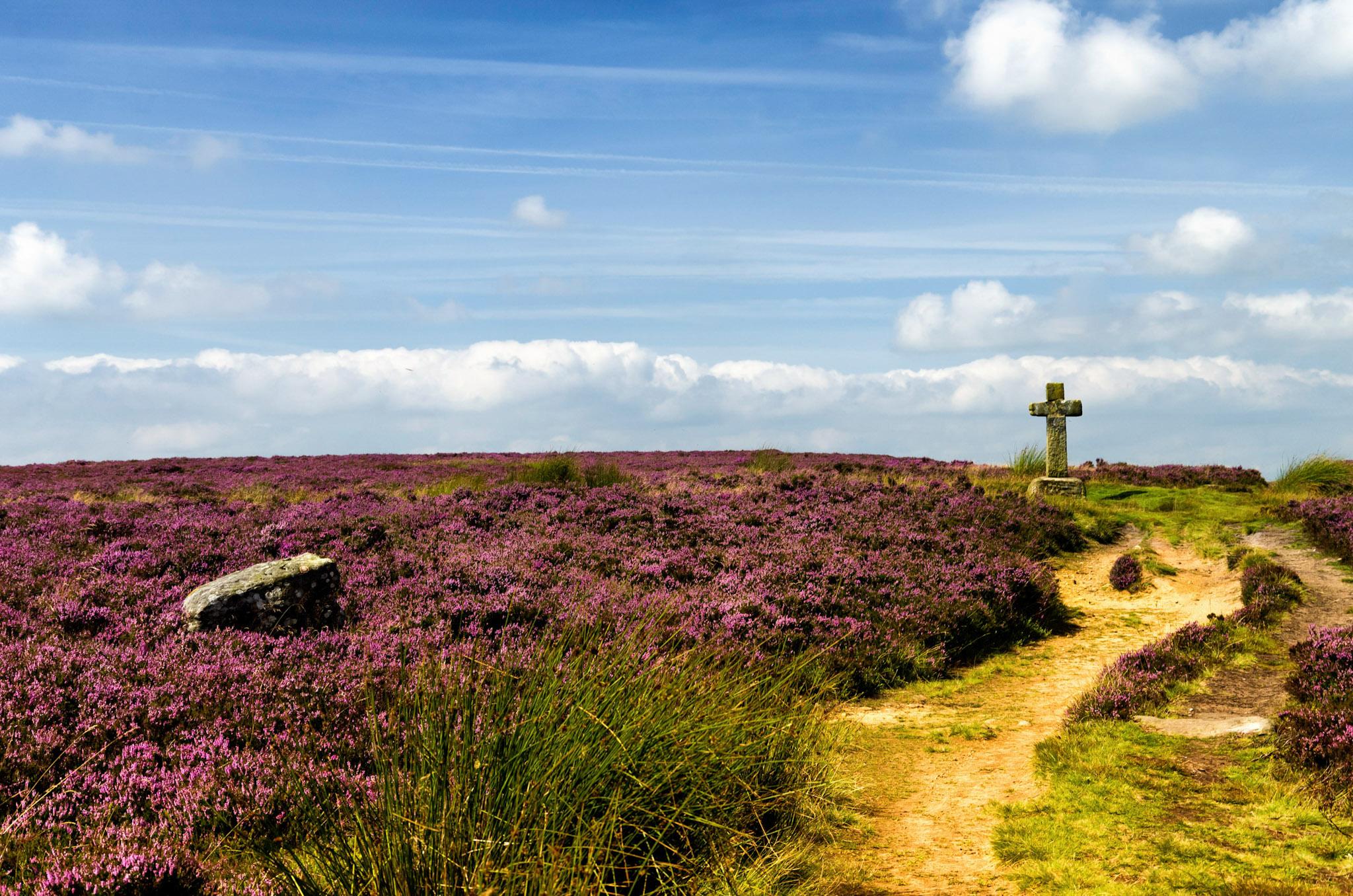 Cowper's Cross, Ilkley Moor, England