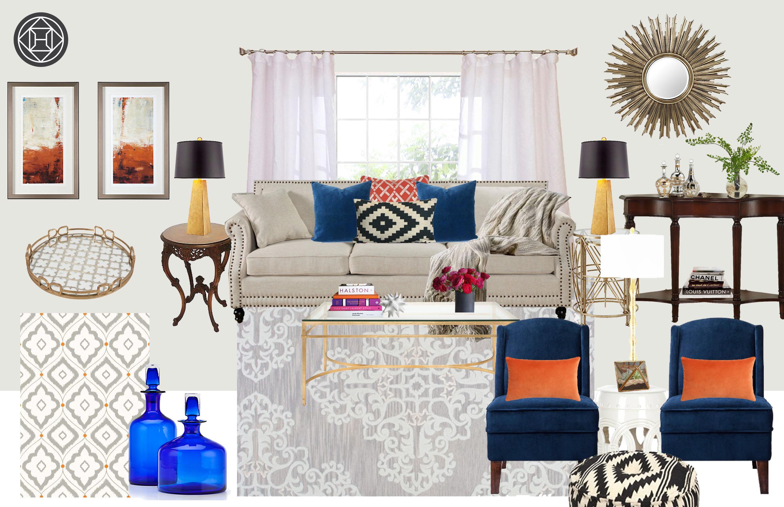 Casey Hardin - Glam Living Room Design
