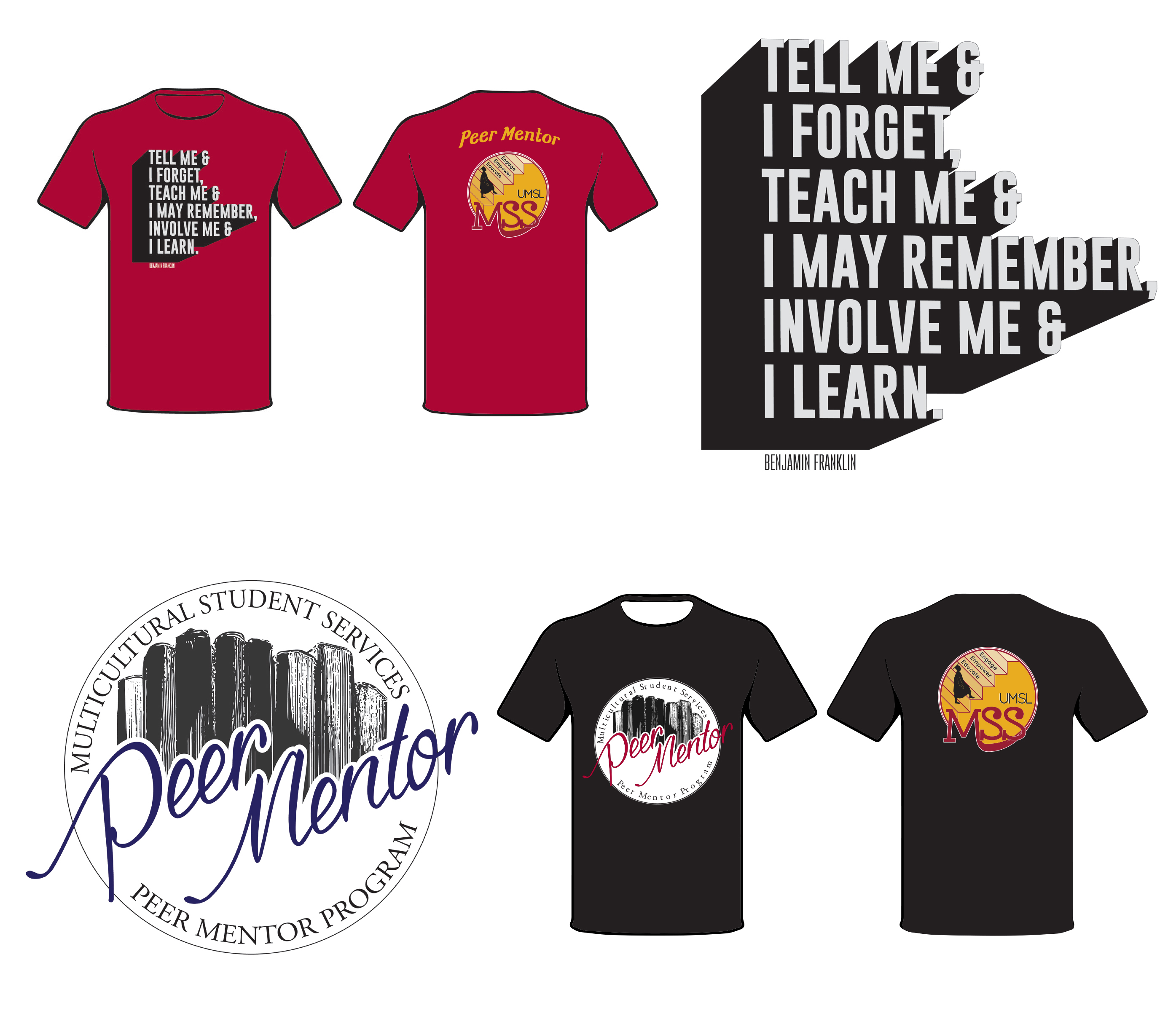 Design t shirt program - Two Shirt Designs For The Peer Mentor Program At The Multicultural Student Services At Umsl