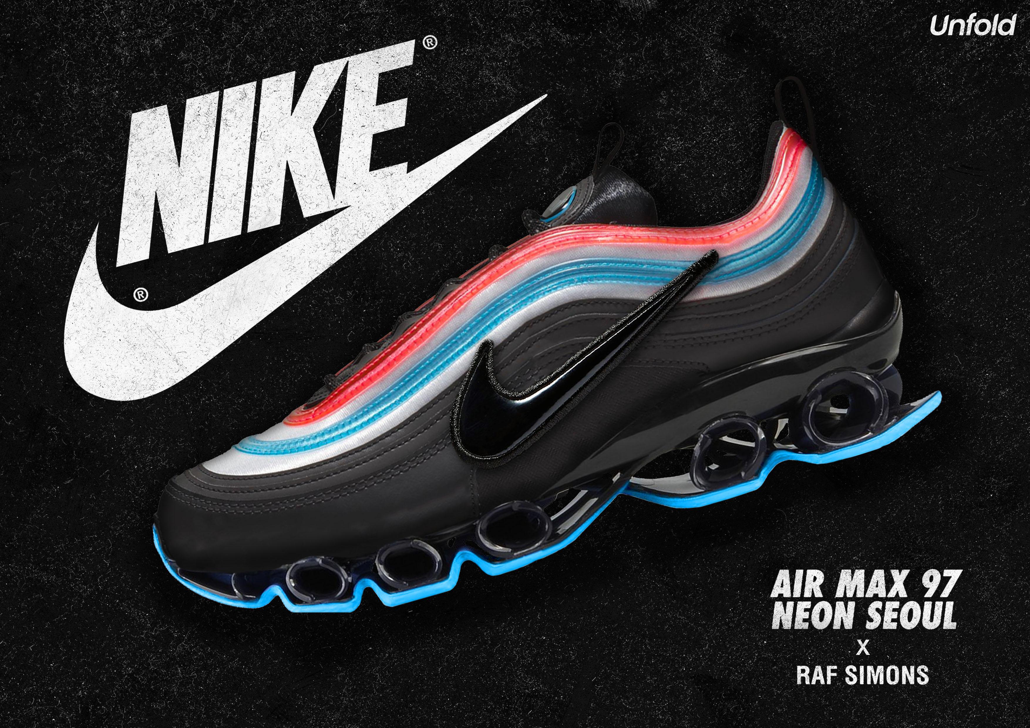 separation shoes 5b831 7cb7f Neon Seoul Nike Air Max 97 X Raf Simons on Behance