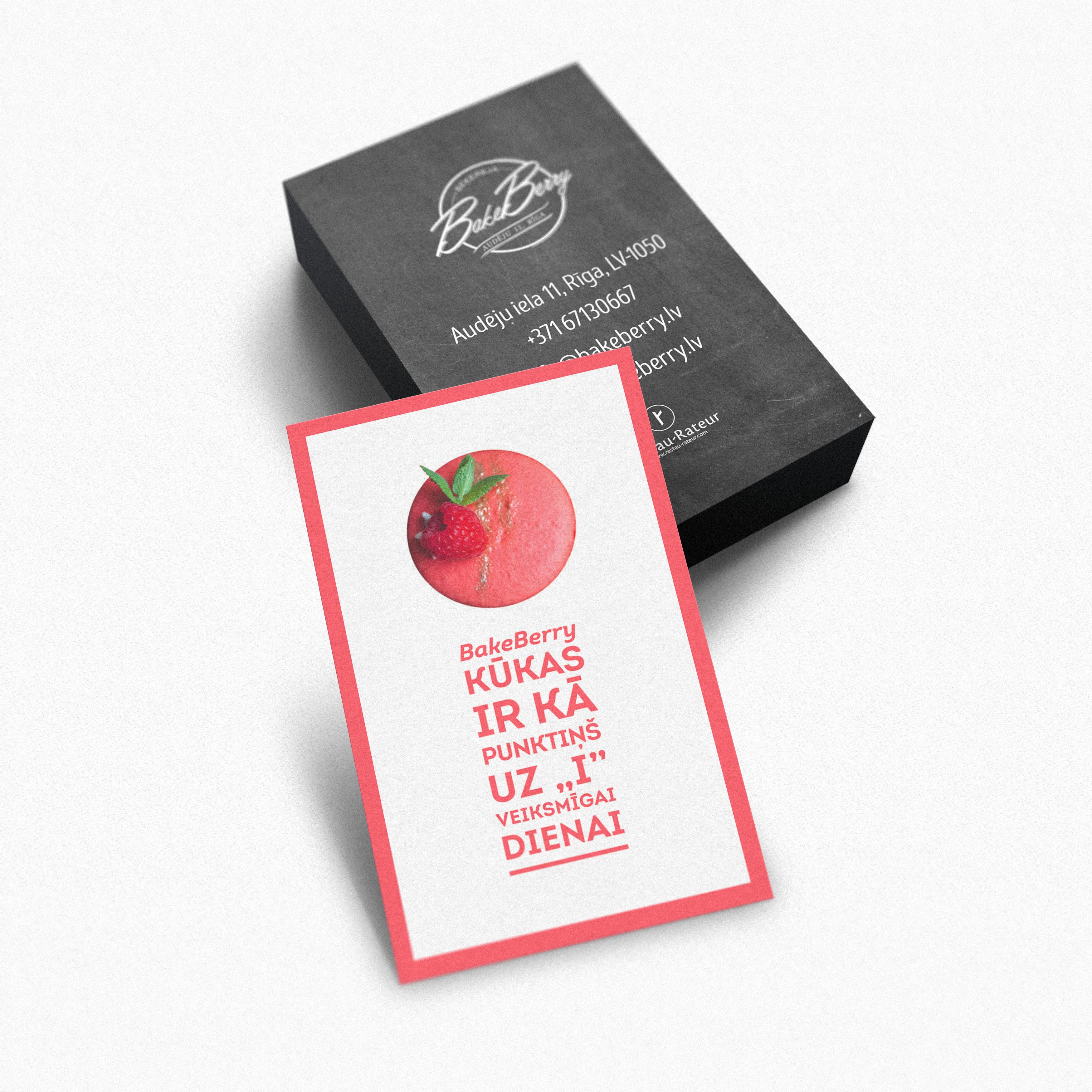 Edvards Percevs - Business card for cake shop \