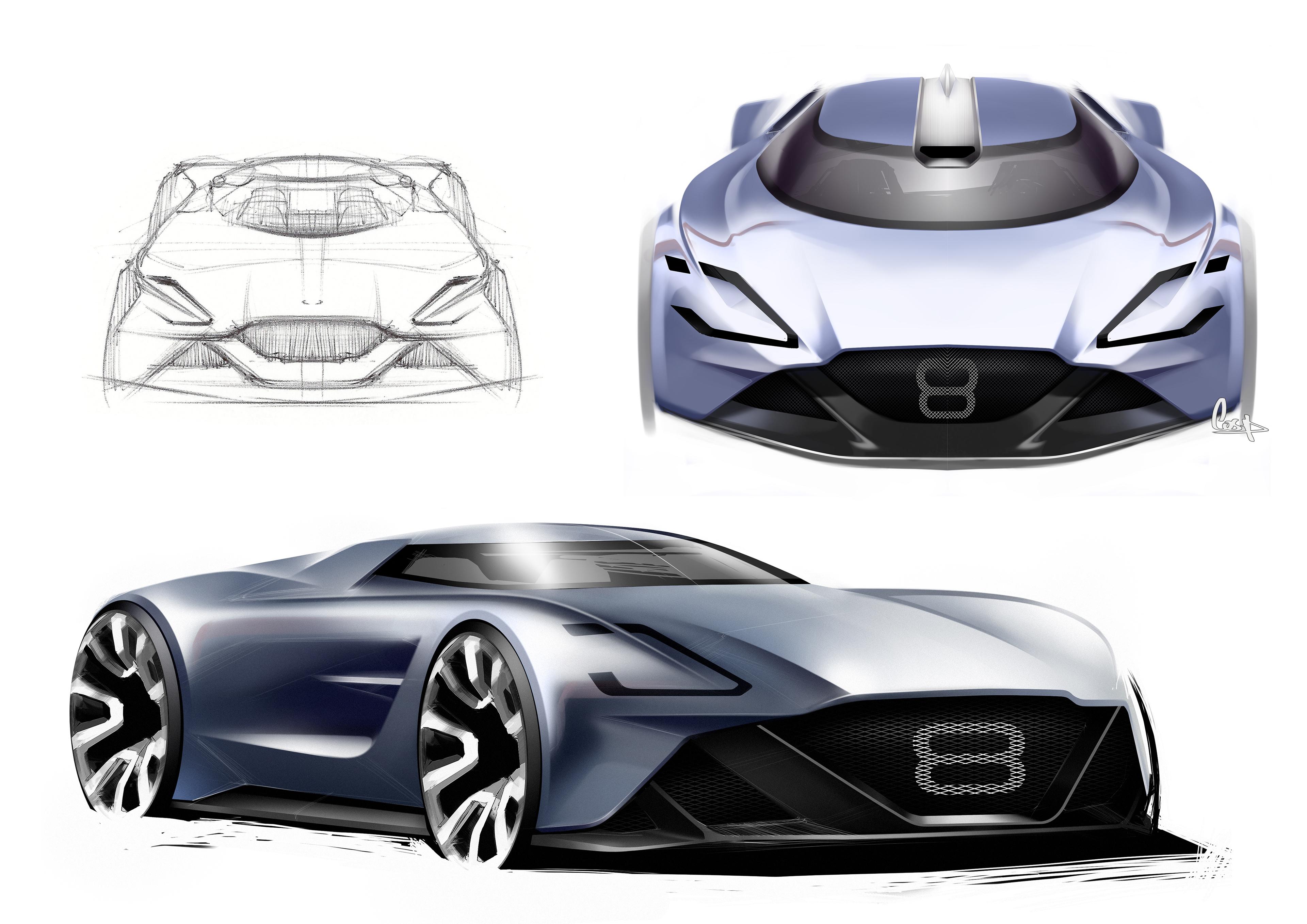 Aston Martin Vision 8 On Behance