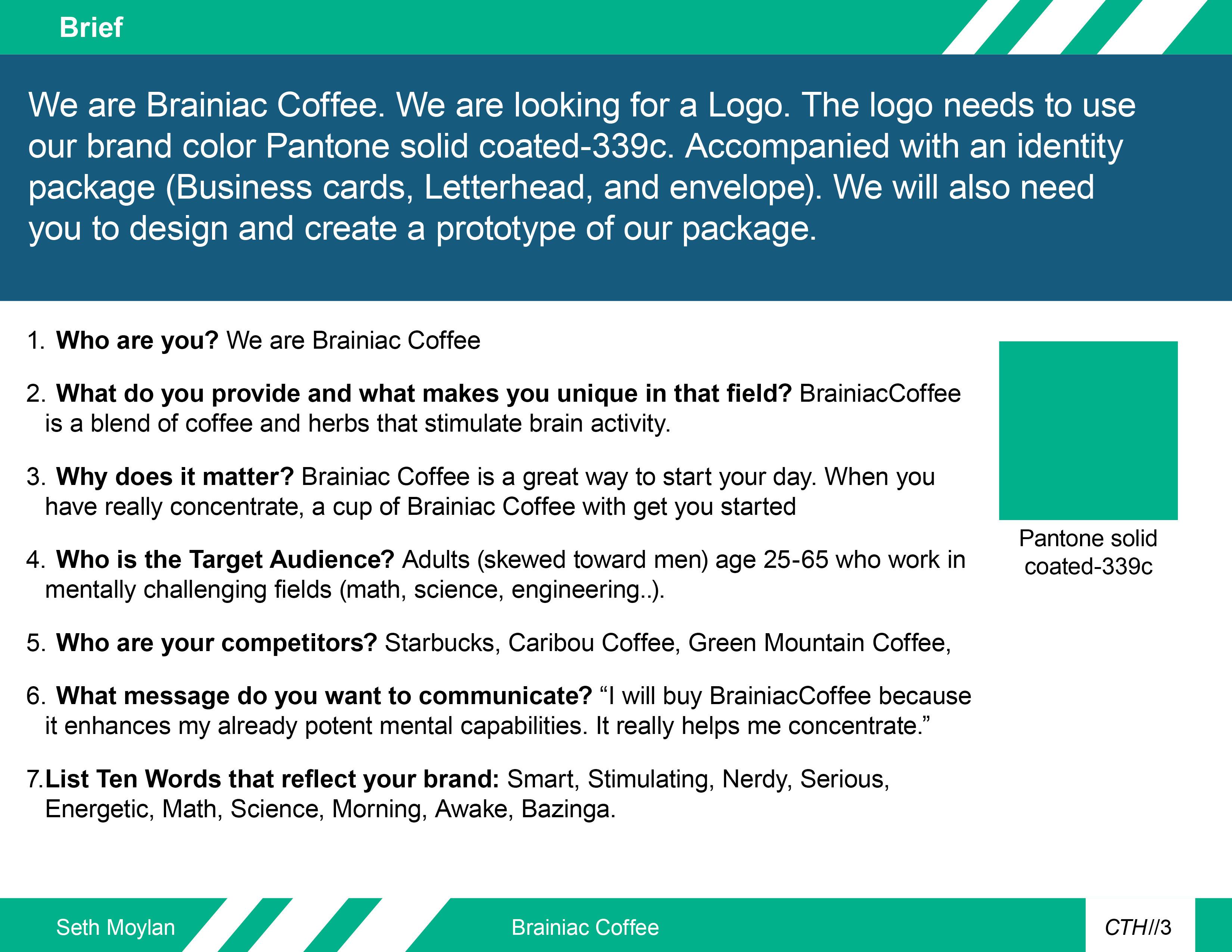 Brainiac Coffee Brand Identity on Behance