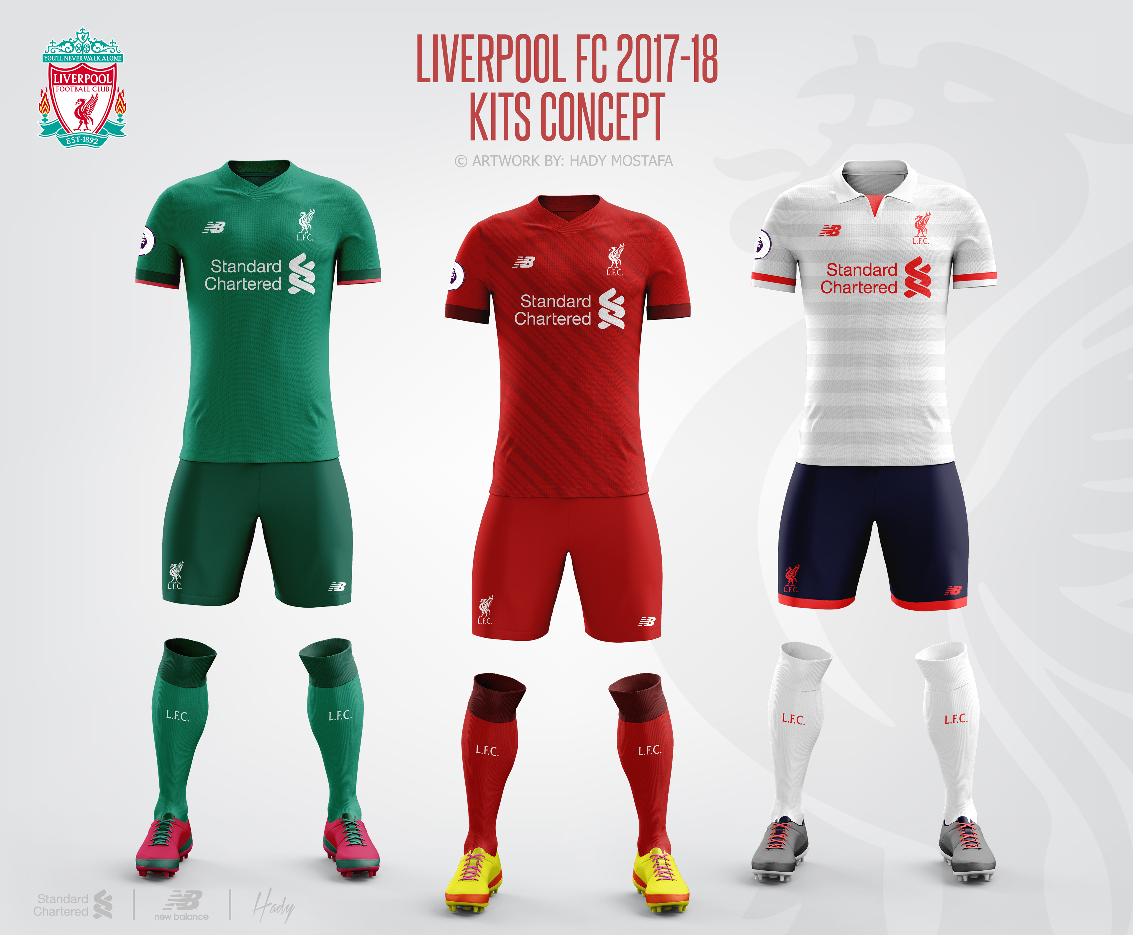 Liverpool FC 2017-18 Kits Concept. on Behance 186714a69