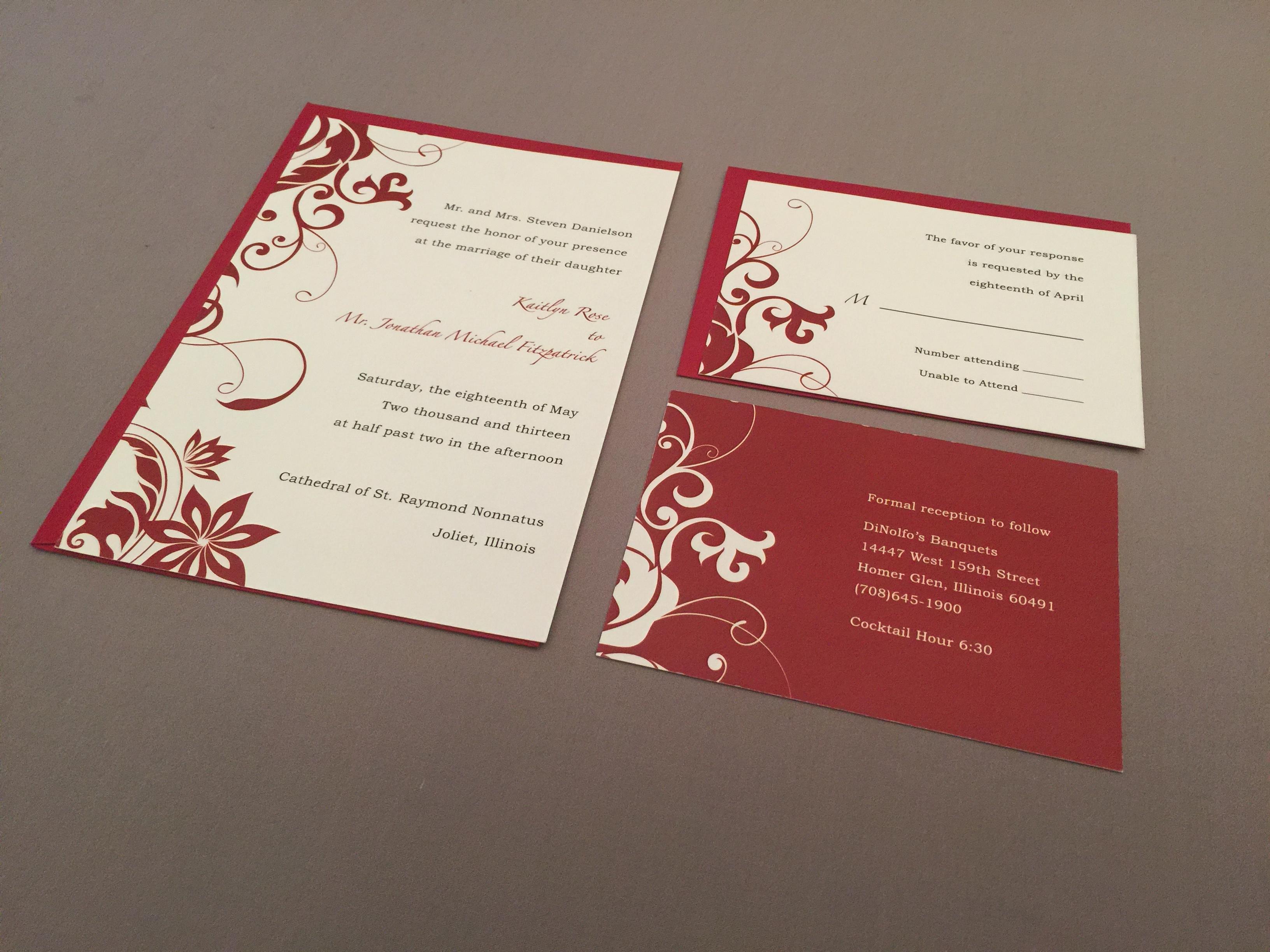 Simple Flourish Invitation on Behance
