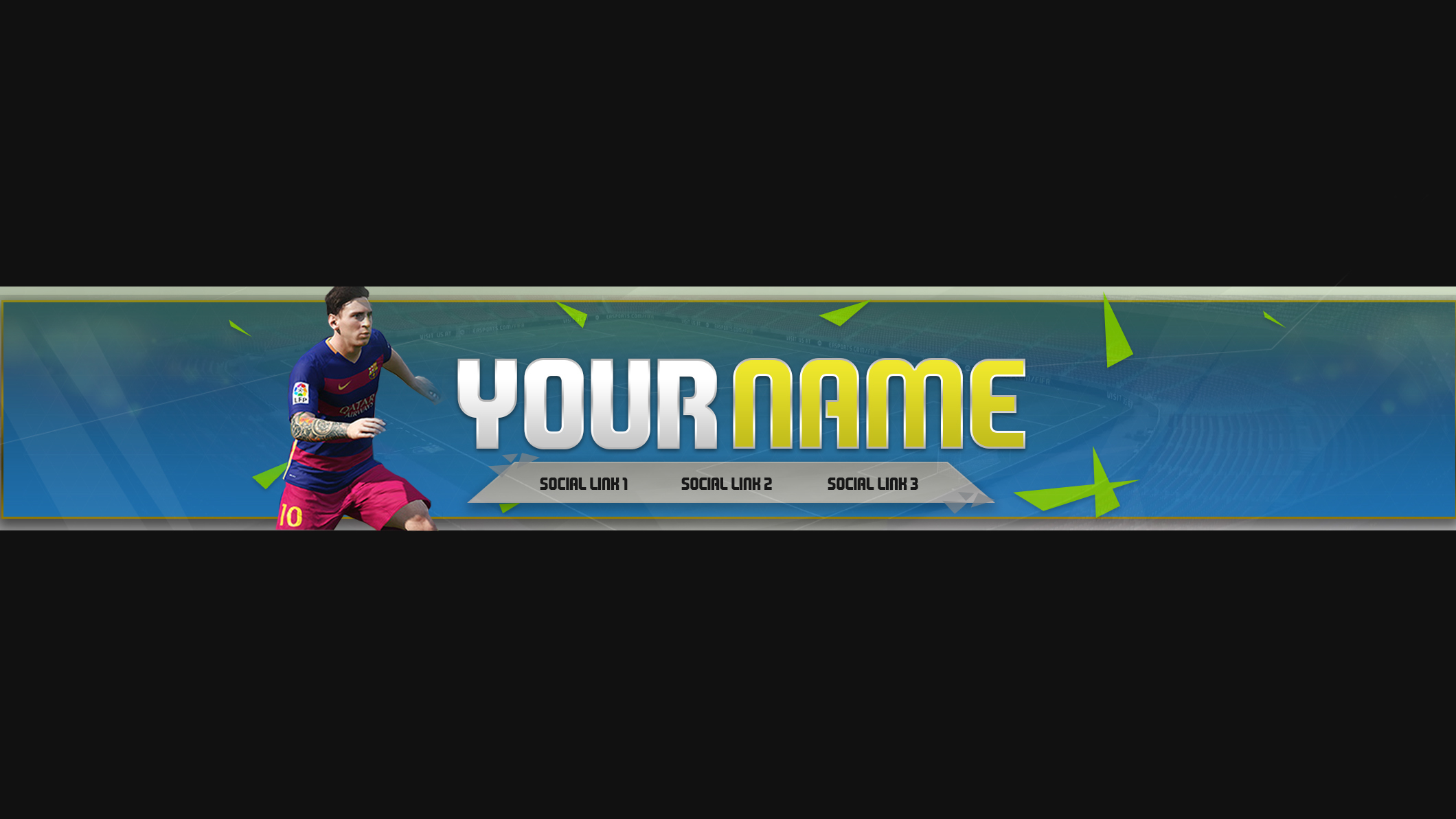 NEW] FIFA 16 YouTube Channel Art Template (FREE) on Behance