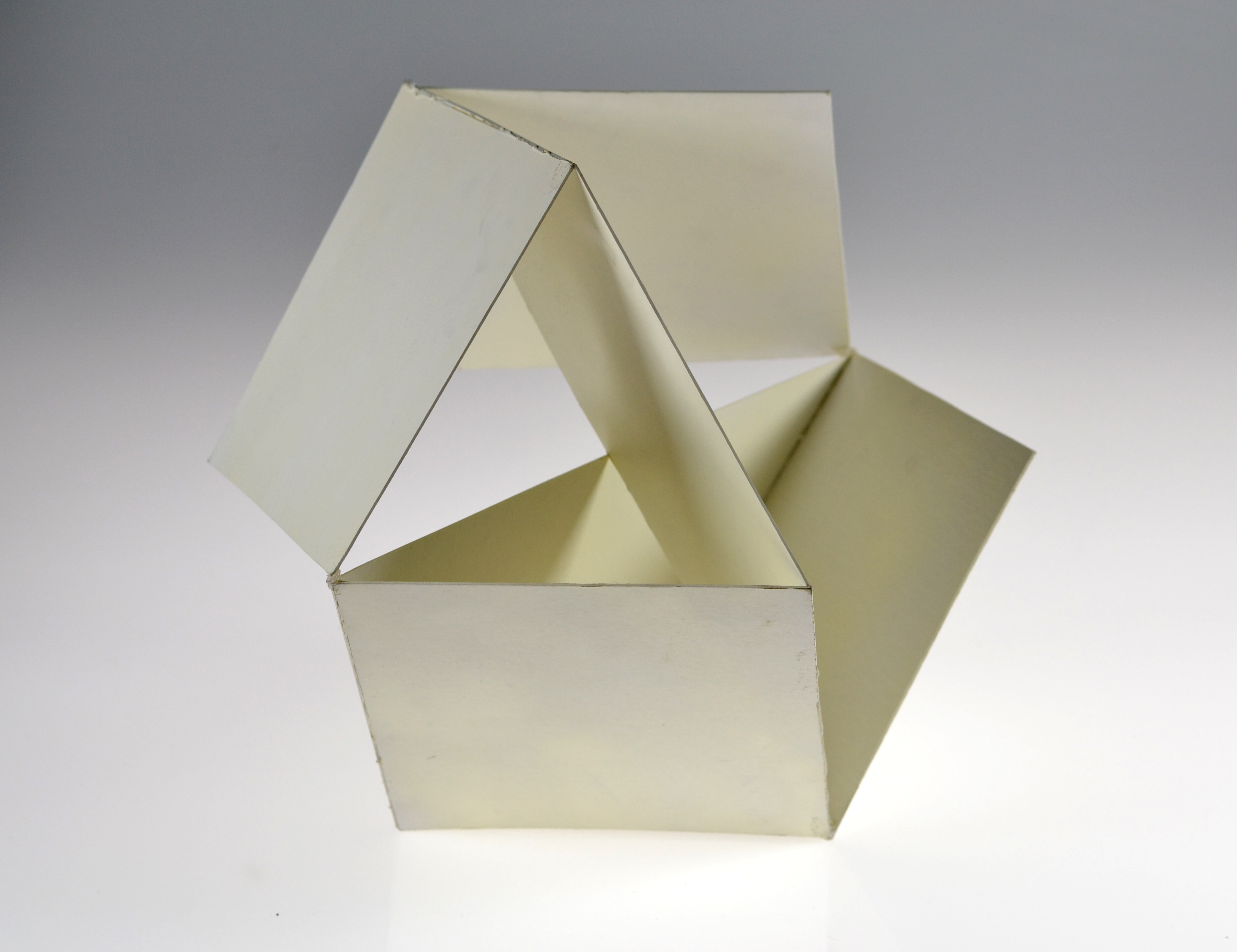 intersecting planes sculpture. i combined my interests in geometric form and intersecting planes created the purest representation of a cuboctahedron. sculpture