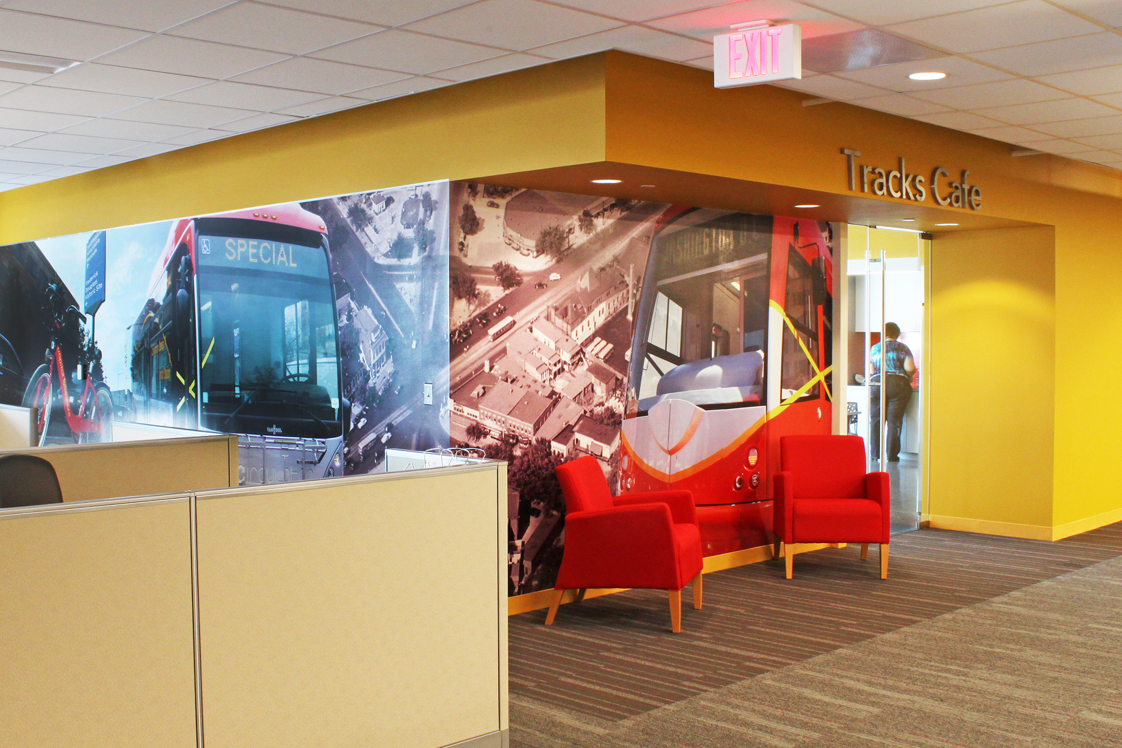 office wall murals. The Murals Were Installed On Outside Of Office \ Wall
