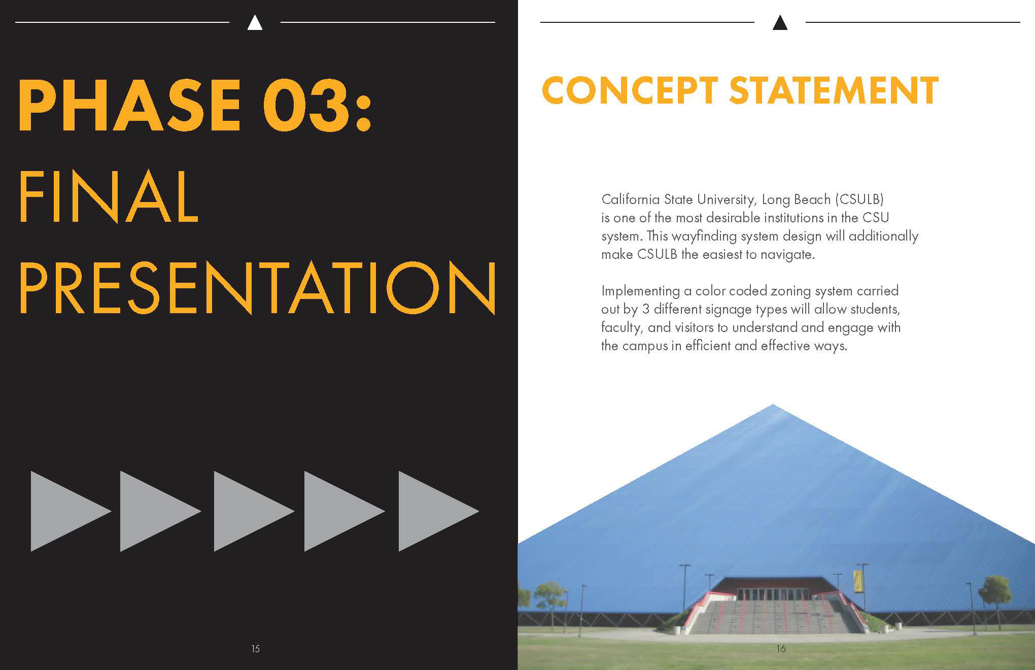 Architecture Design Concept Statement csulb campus wayfinding on behance