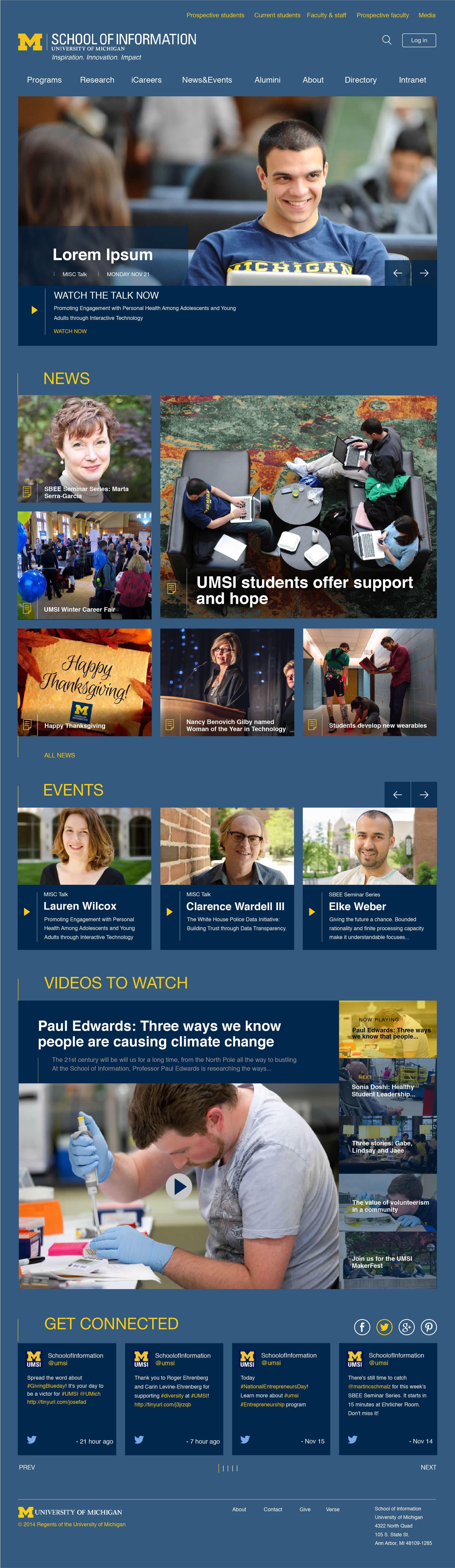 UMSI Homepage