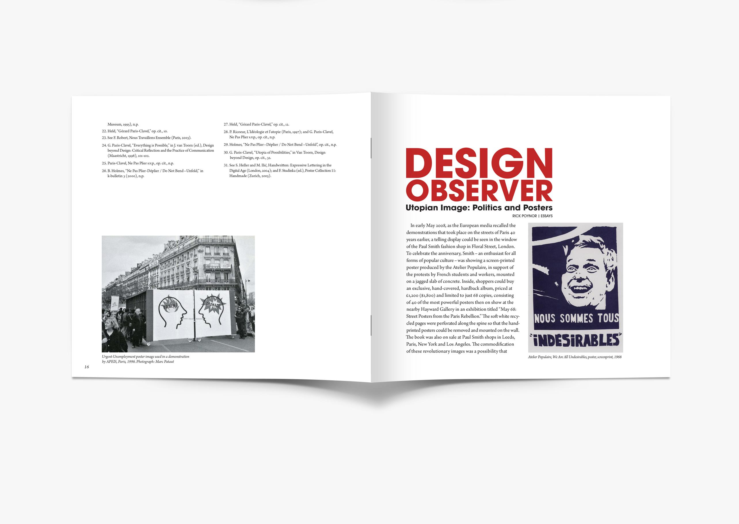 Design Observer Booklet on Behance