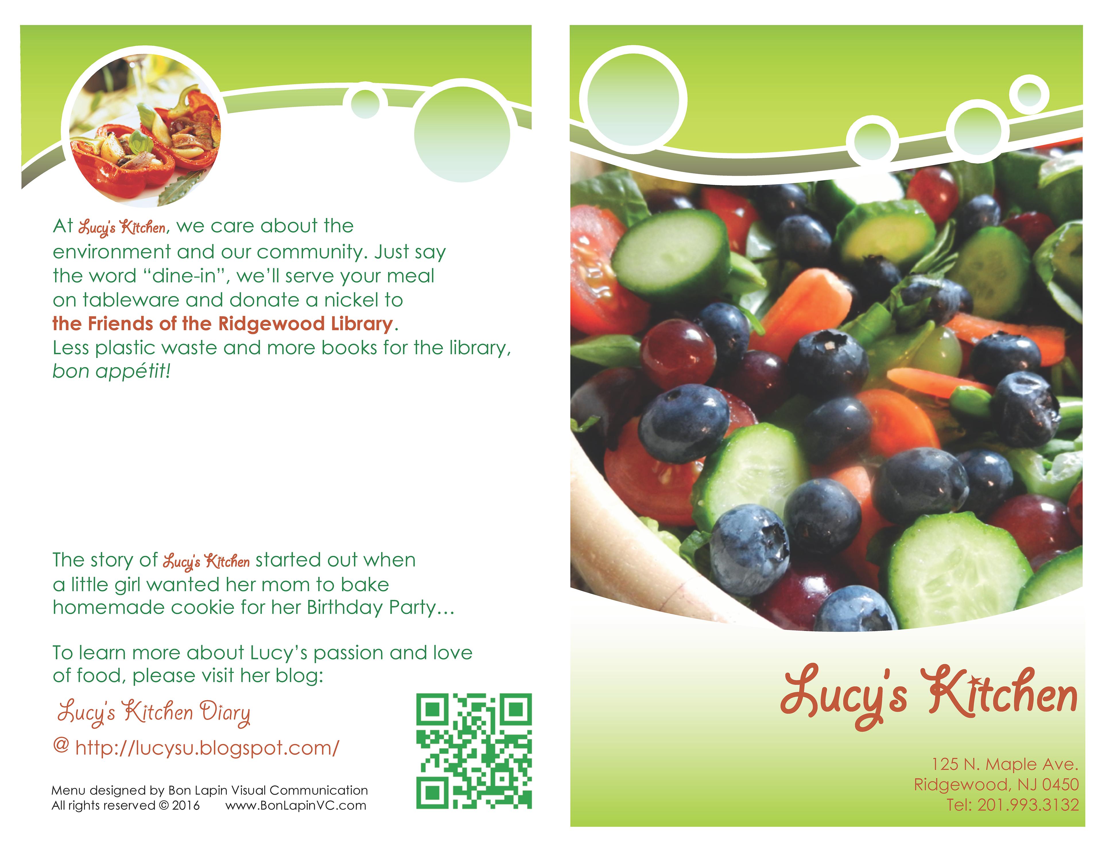 bonlapinvc menu pamphlet design