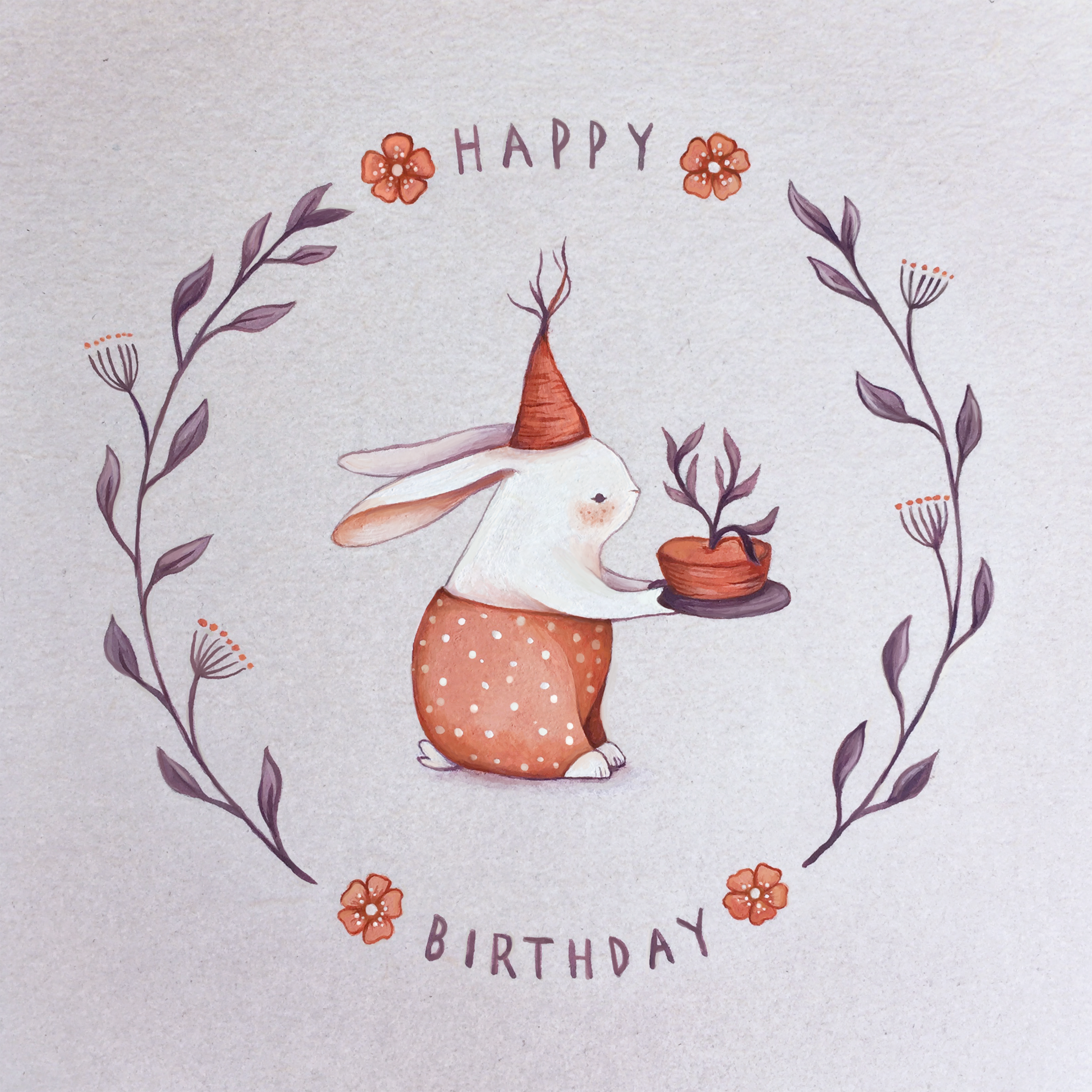My Greeting Cards rabbit fox mouse and squirrel on Behance