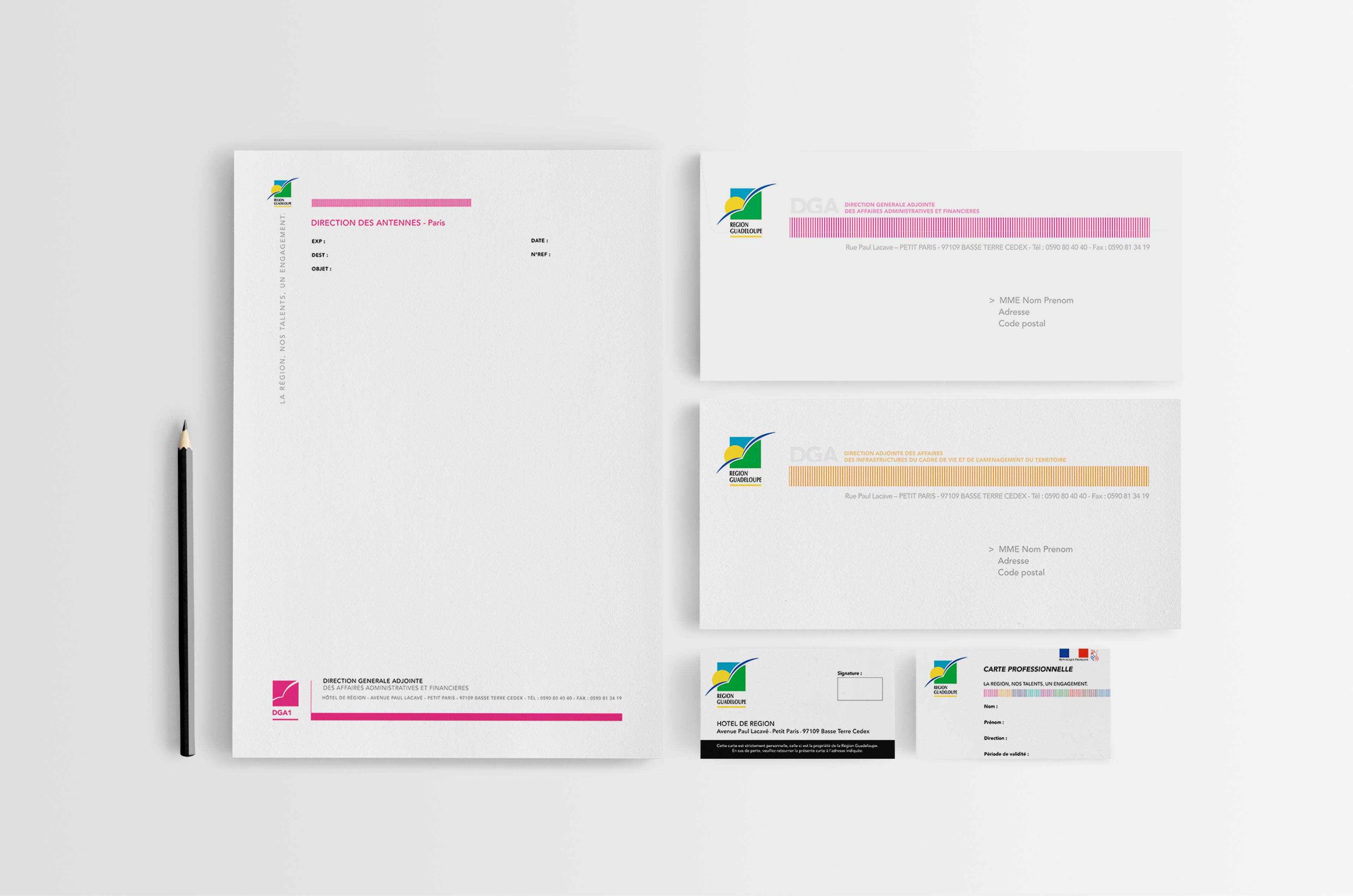 Papier En Tte DAG1 Enveloppes DAG2 Et Carte Professionnelle Gnrique Recto Verso