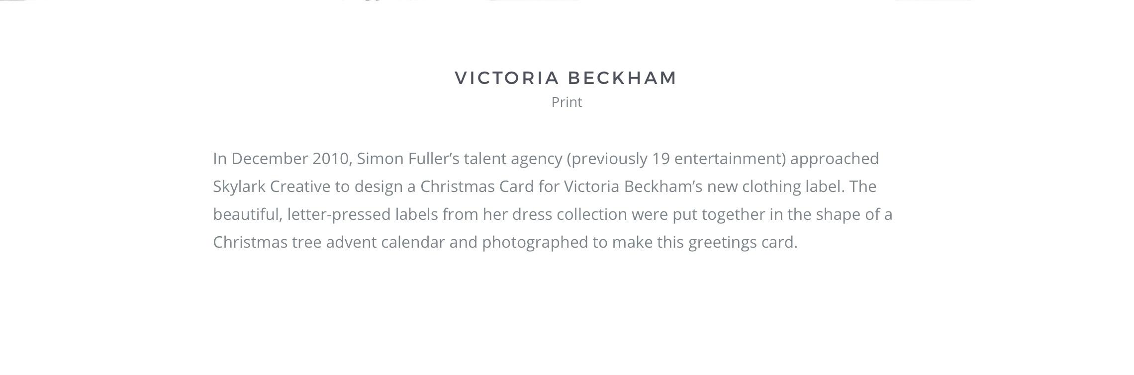 Victoria Beckham Christmas Card On Behance