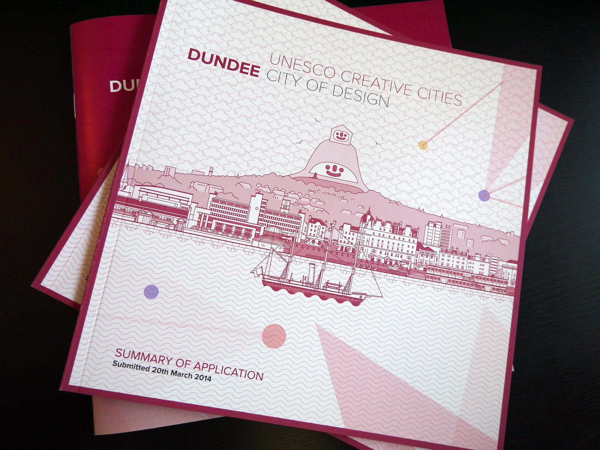 UNESCO City of Design Illustration on documents