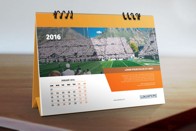 Calendar 2016 Template On Behance