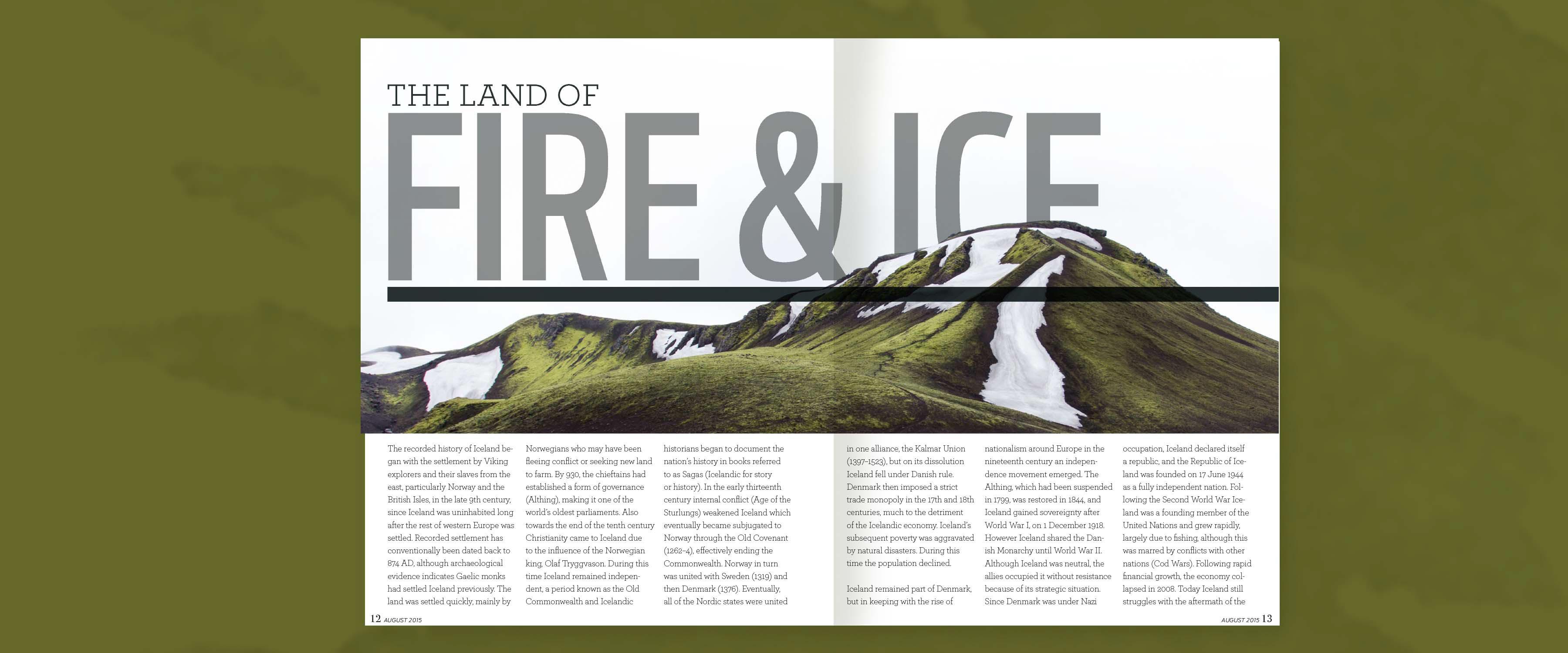 Layout: The Traveler: Iceland on Behance