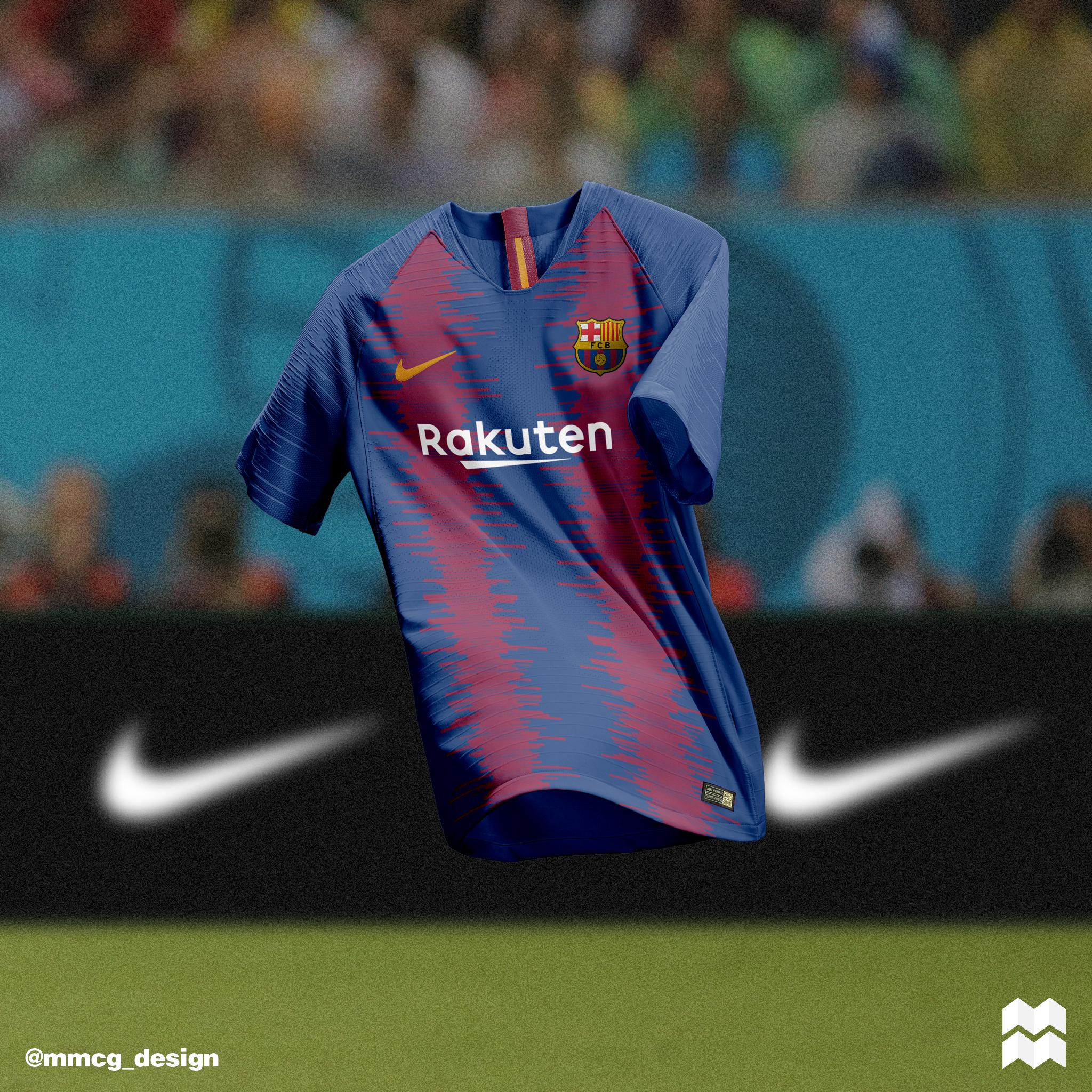 9f499beeae8e3 Nike F.C Barcelona Home   Away Jerseys 2018 19 on Behance