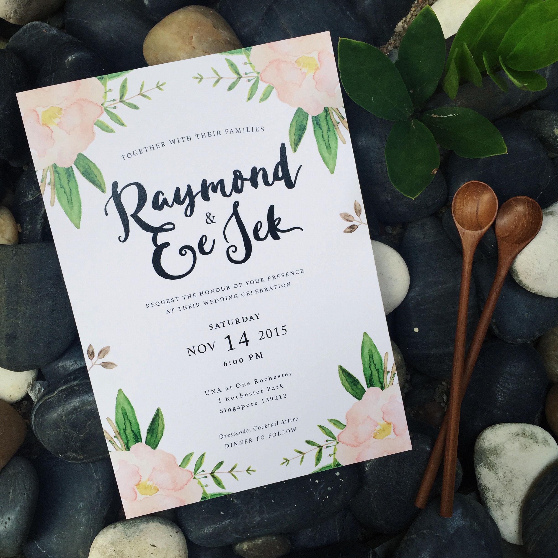 Wedding Invitation   Raymond & Ee Jek on Behance