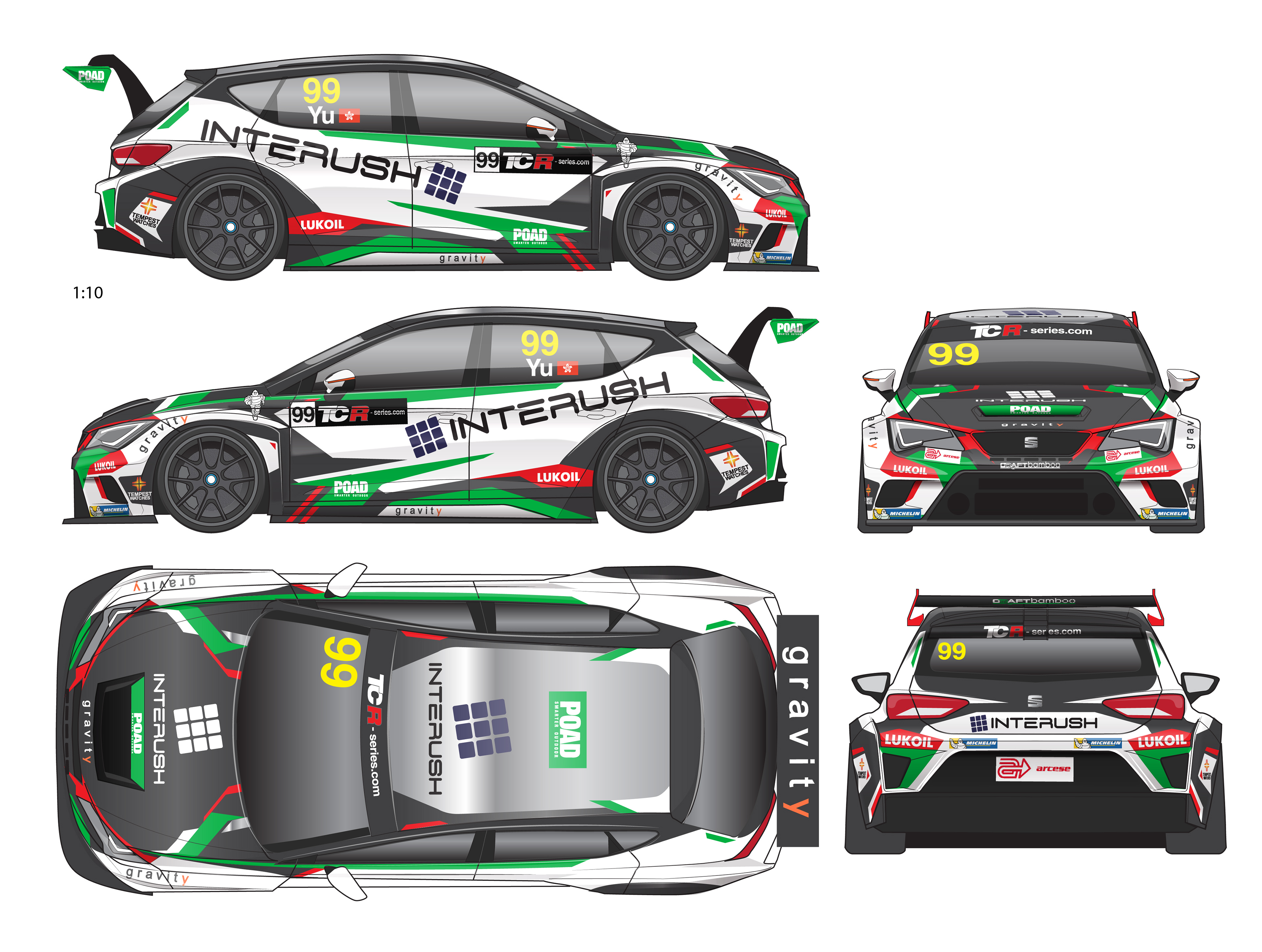 jay wong - Craft Bamboo Racing - Seat Leon TCR Racer livery