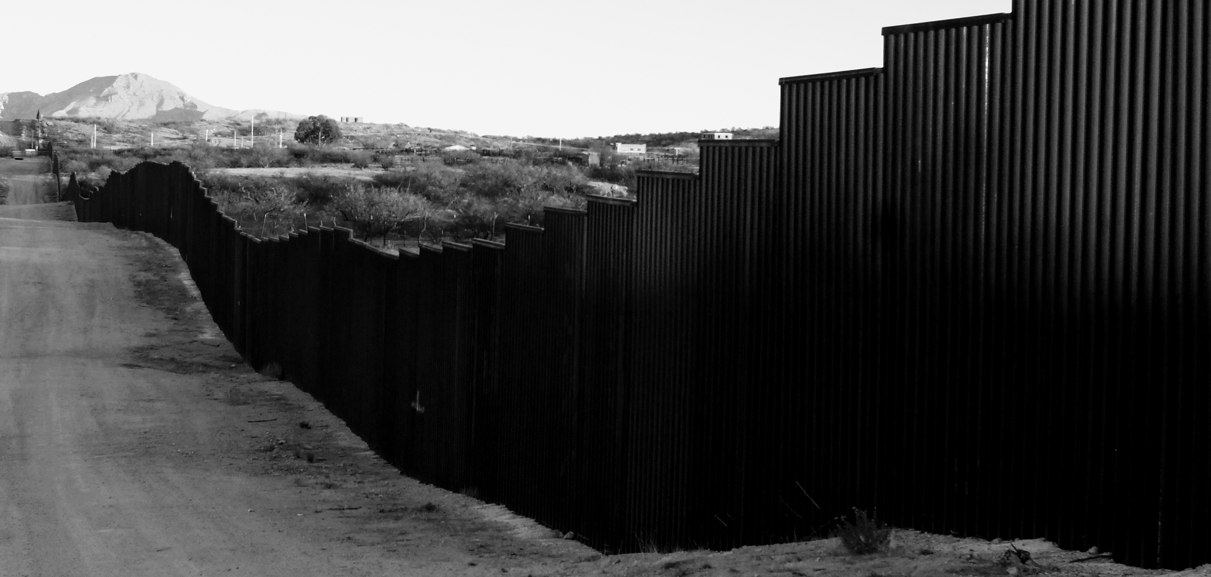 The US-Mexico border fence