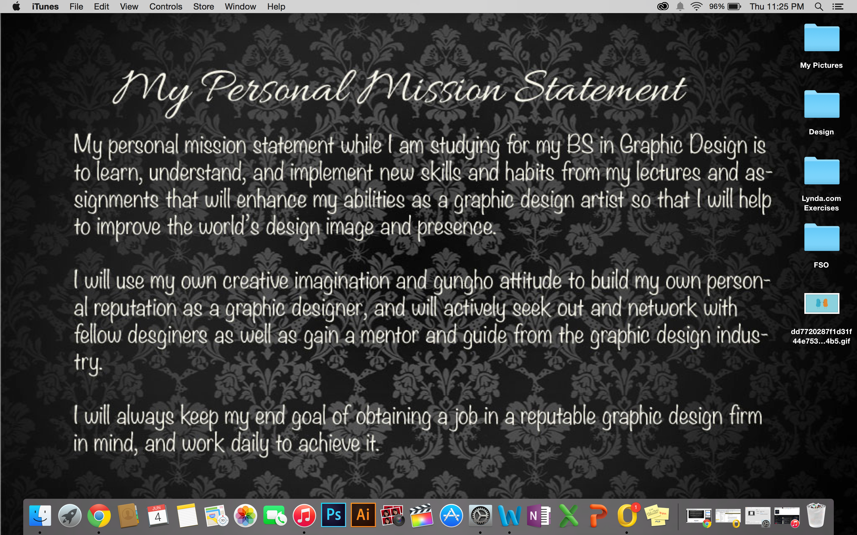 my personal mission statement on behance