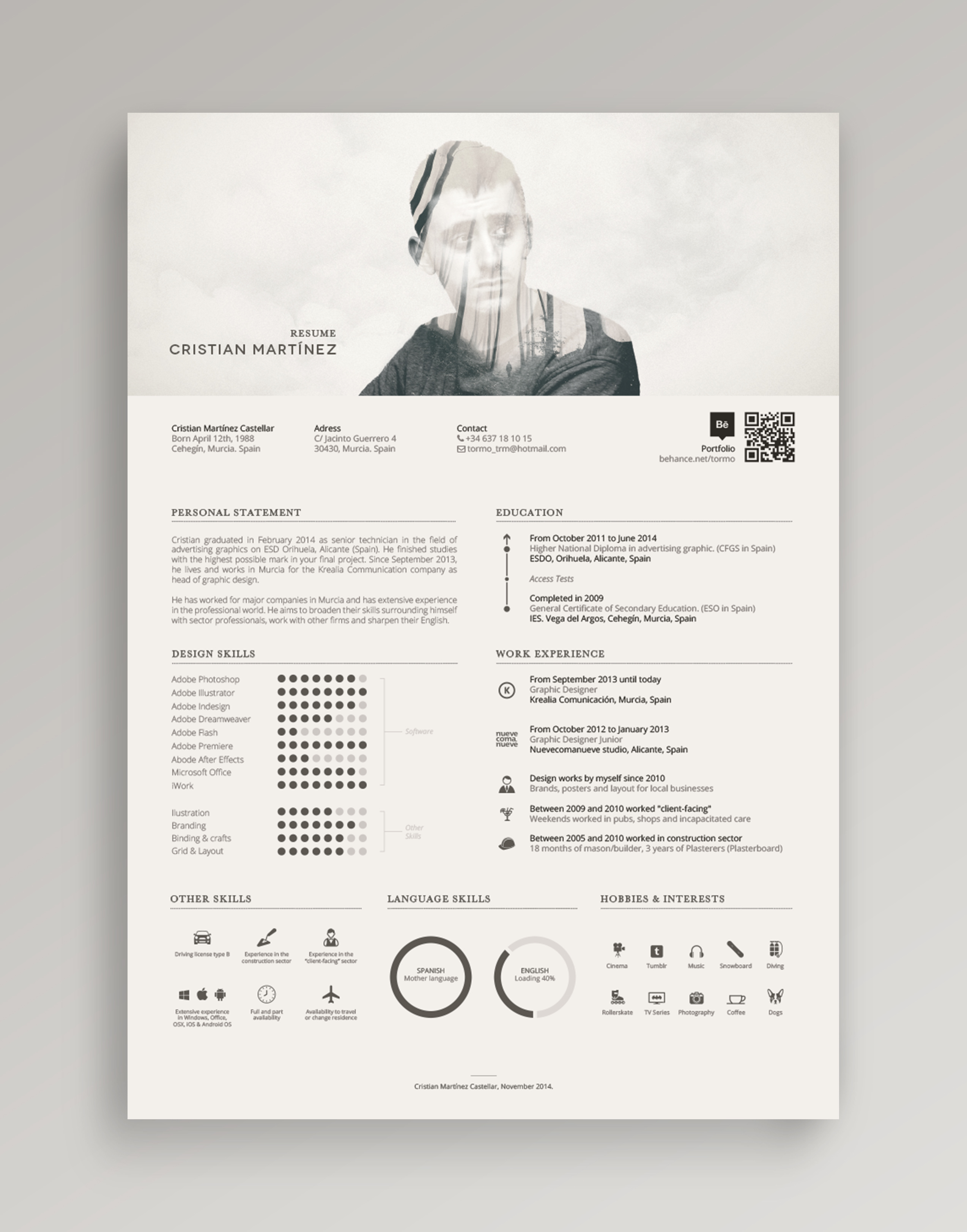 Resume Curriculum Vitae on Behance