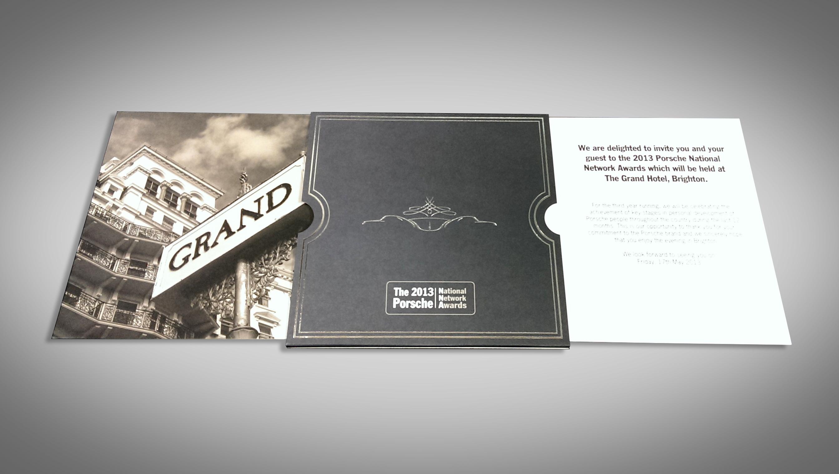Smcdesign Creative Porsche Awards Invite