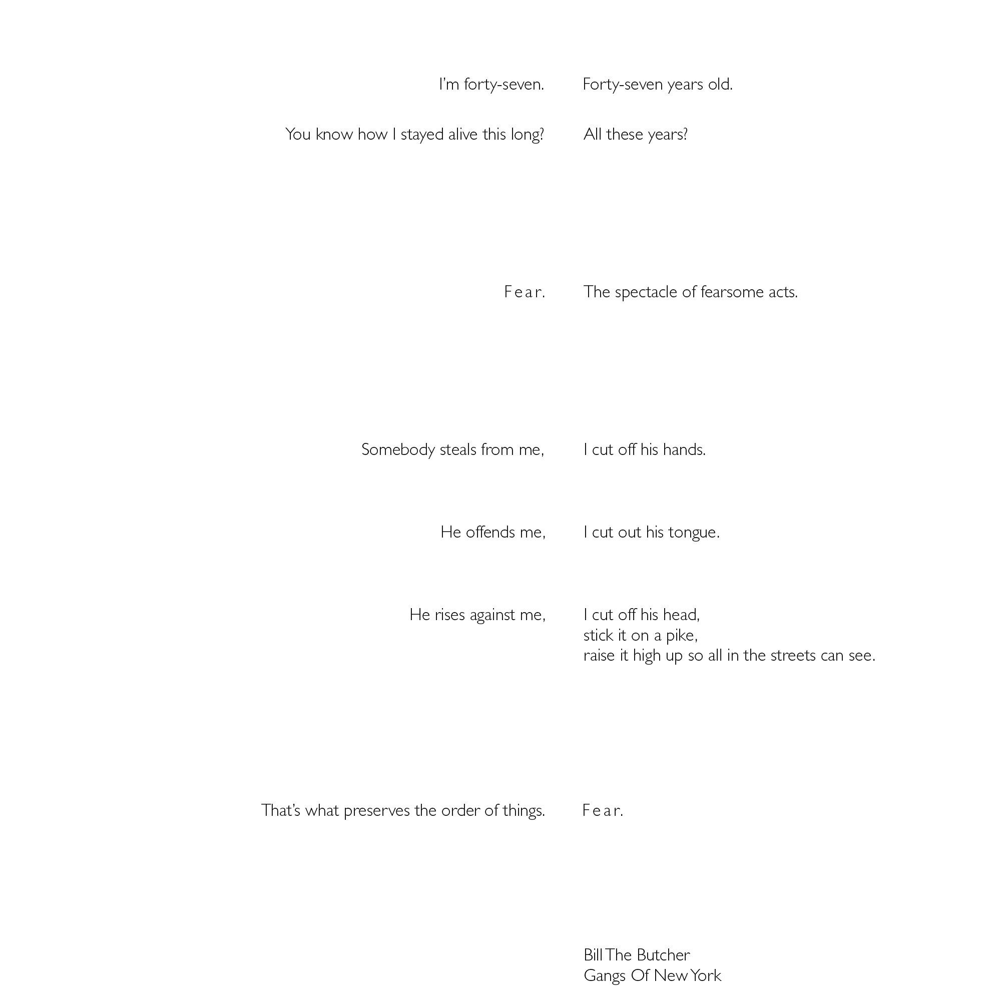 Ryan terry movie monologue 1 single typeface style and point size ccuart Image collections