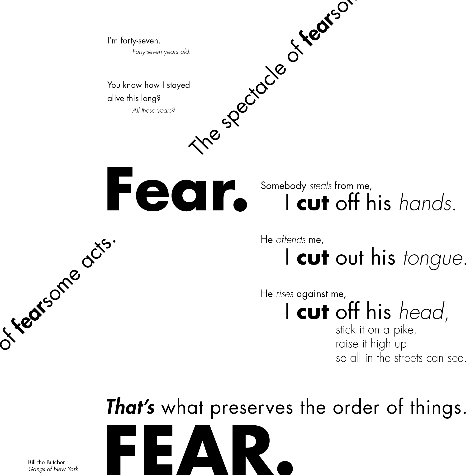 Ryan terry movie monologue 2 single typeface multiple styles and point si ccuart Image collections