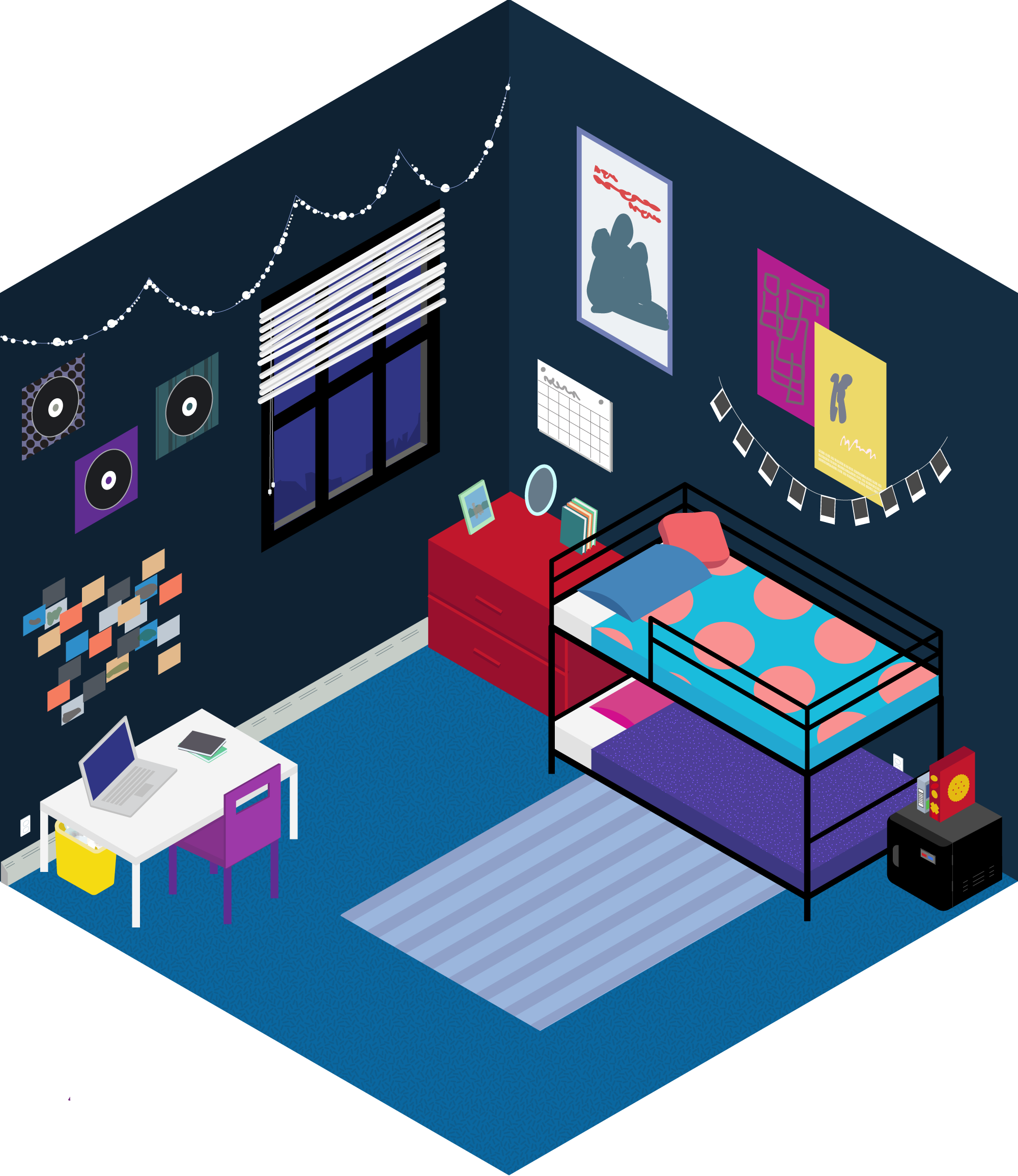 pillow drawing isometric - 600×693