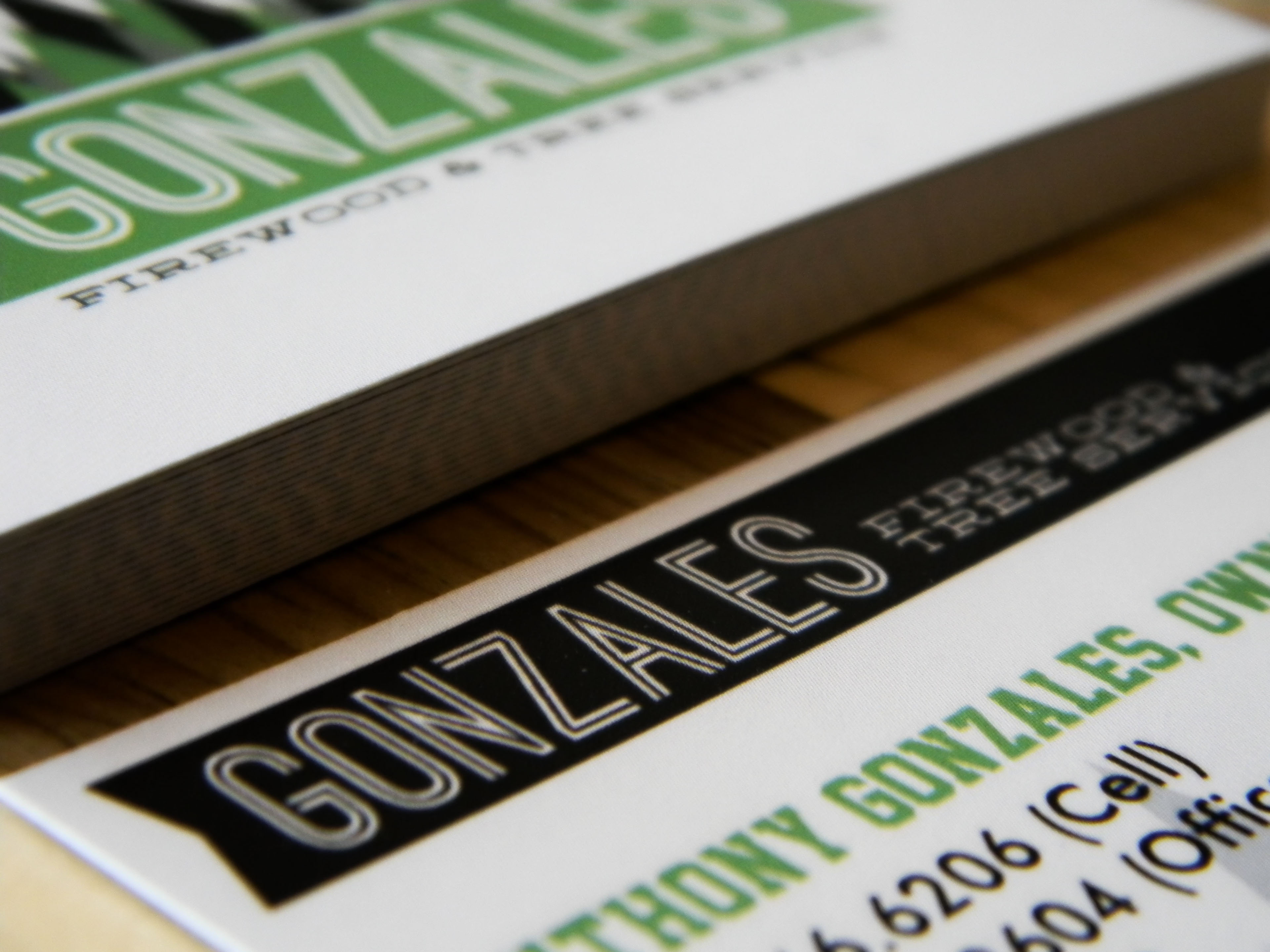 Gonzales Firewood & Tree Service Business Cards on Behance