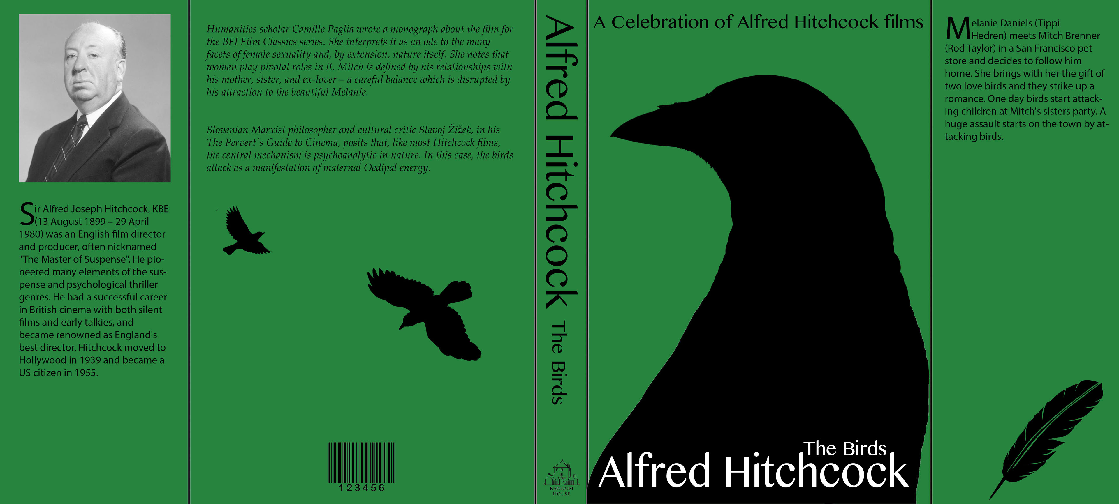 the birds essay alfred hitchcock The inevitable cameo of hitchcock occurs when hitchcock is leaving the pet shop with two scottie dogs as in psycho, hitchcock, once again, succeeded in implicating his audience to such an extent that the anticlimactic, much-criticized ending of the film finds the audience more blood-thirsty than the birds.