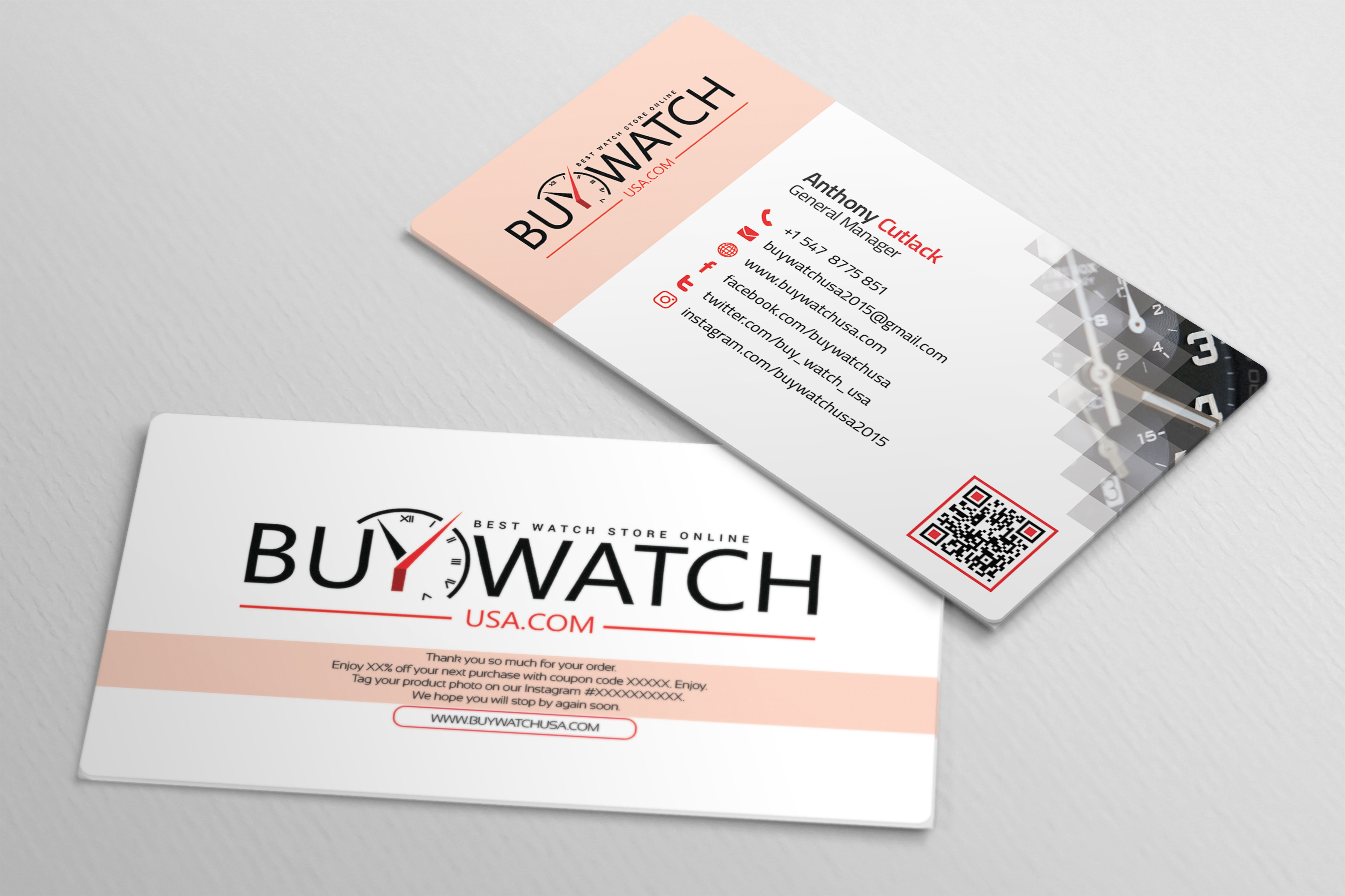 Modern Business Card for Buywatchusa on Behance