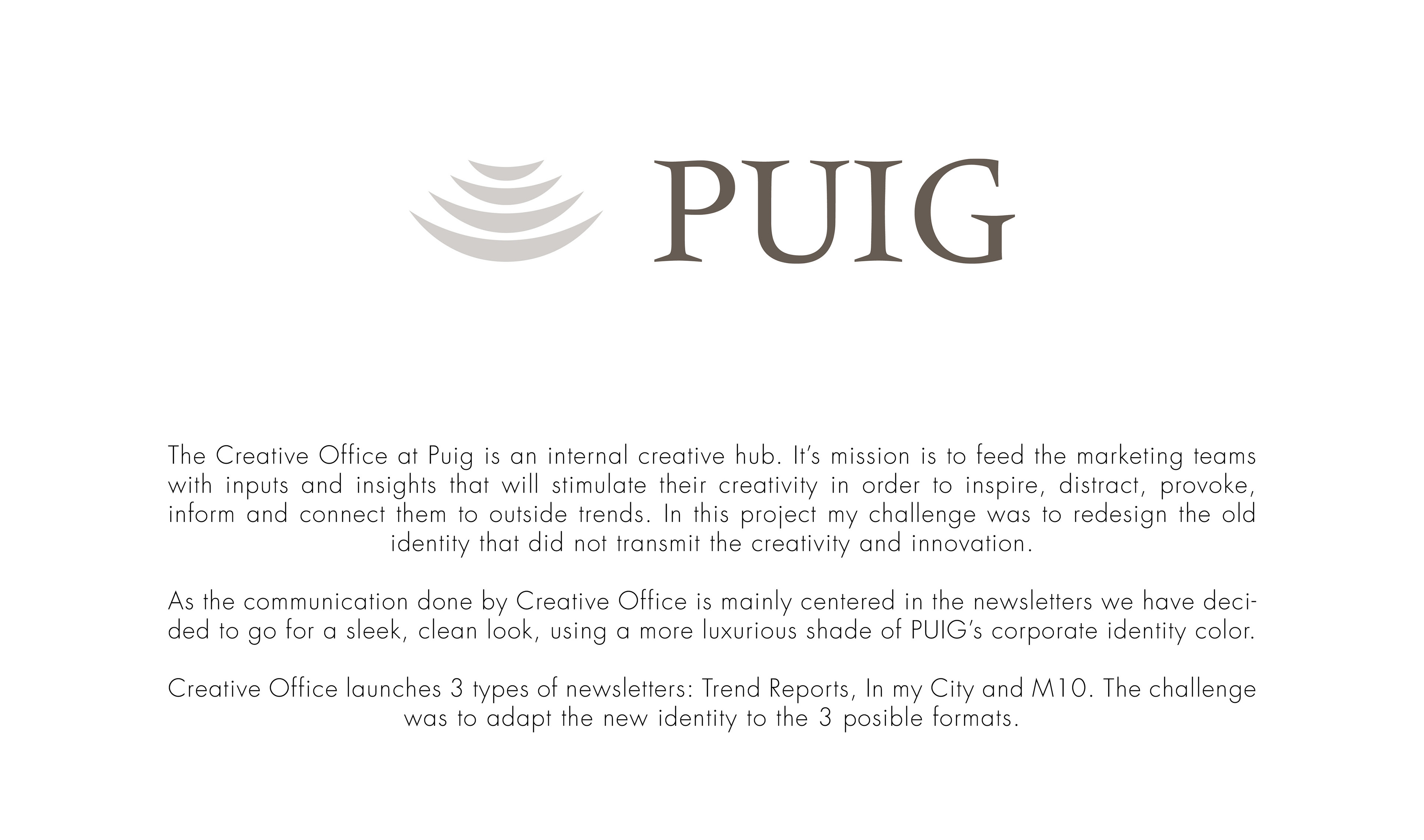 PUIG Creative Office Newsletters on Behance