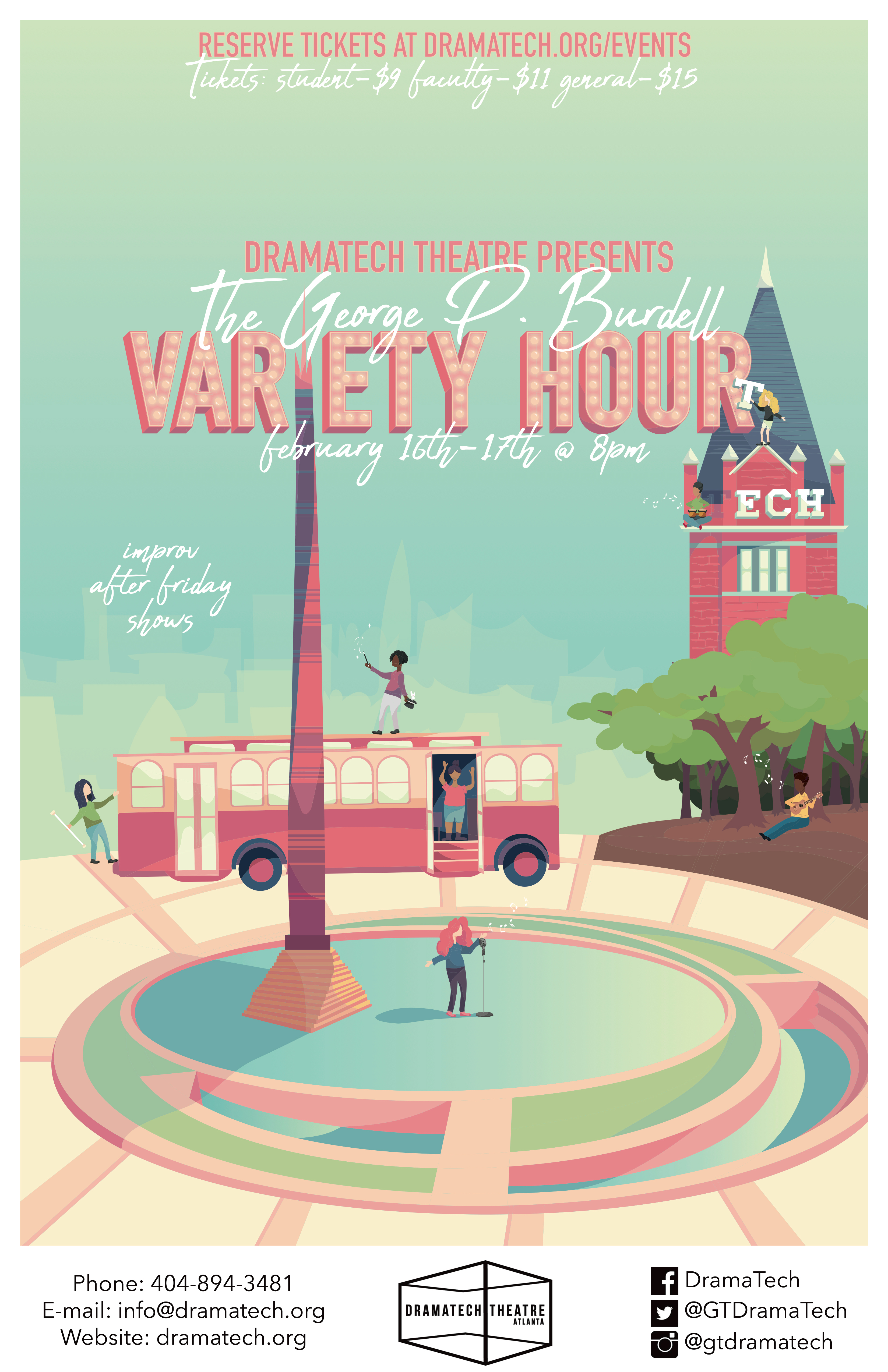 George P Burdell Variety Hour Poster And Video On Behance